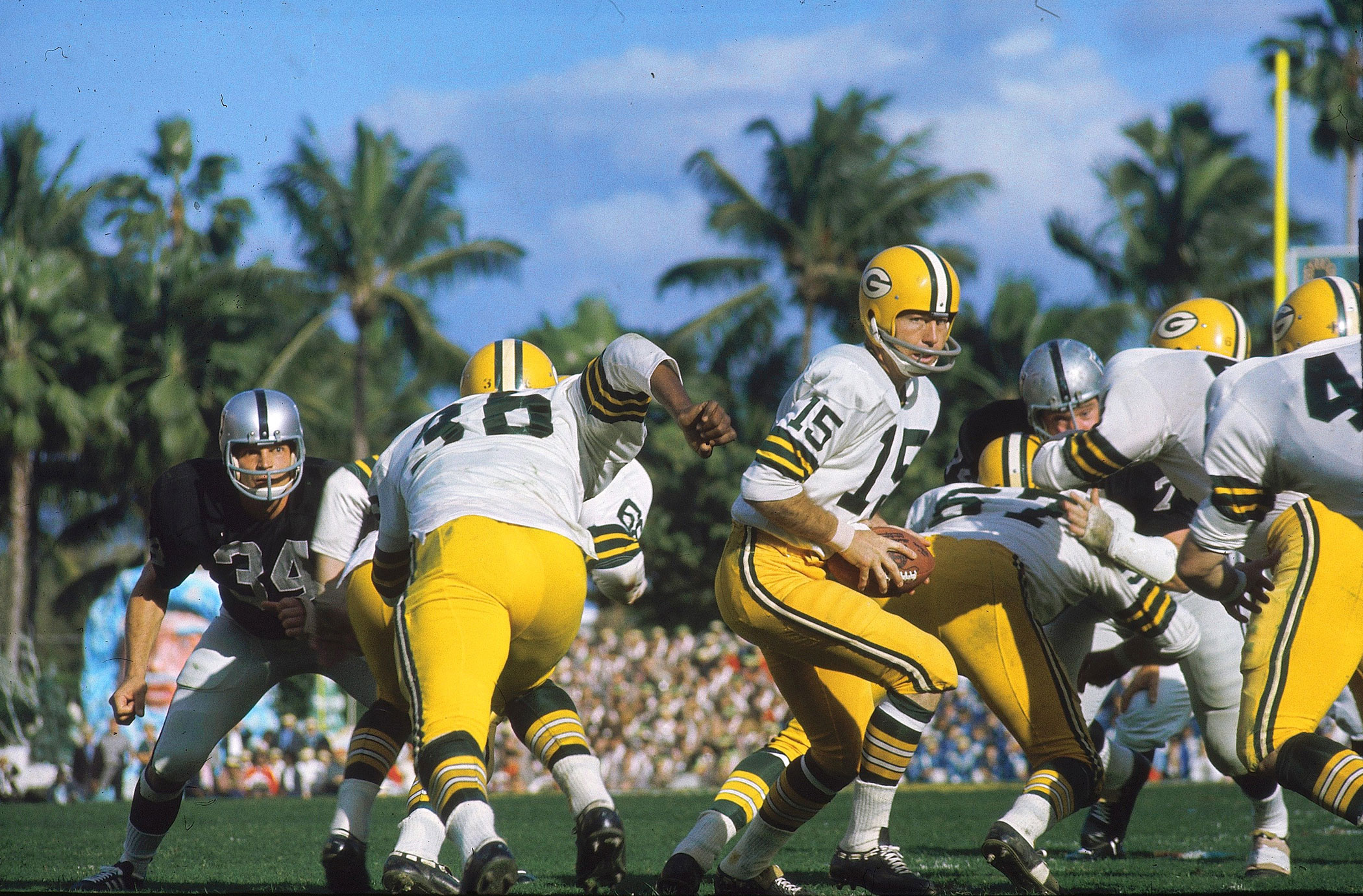 Super Bowl II, Jan. 14, 1968                               Green Bay Packers vs. Oakland Raiders in Miami