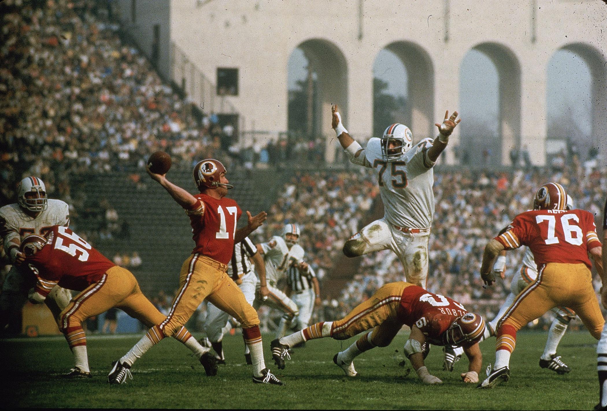 Super Bowl VII, Jan. 14, 1973                               Miami Dolphins vs Washington Redskins in Los Angeles