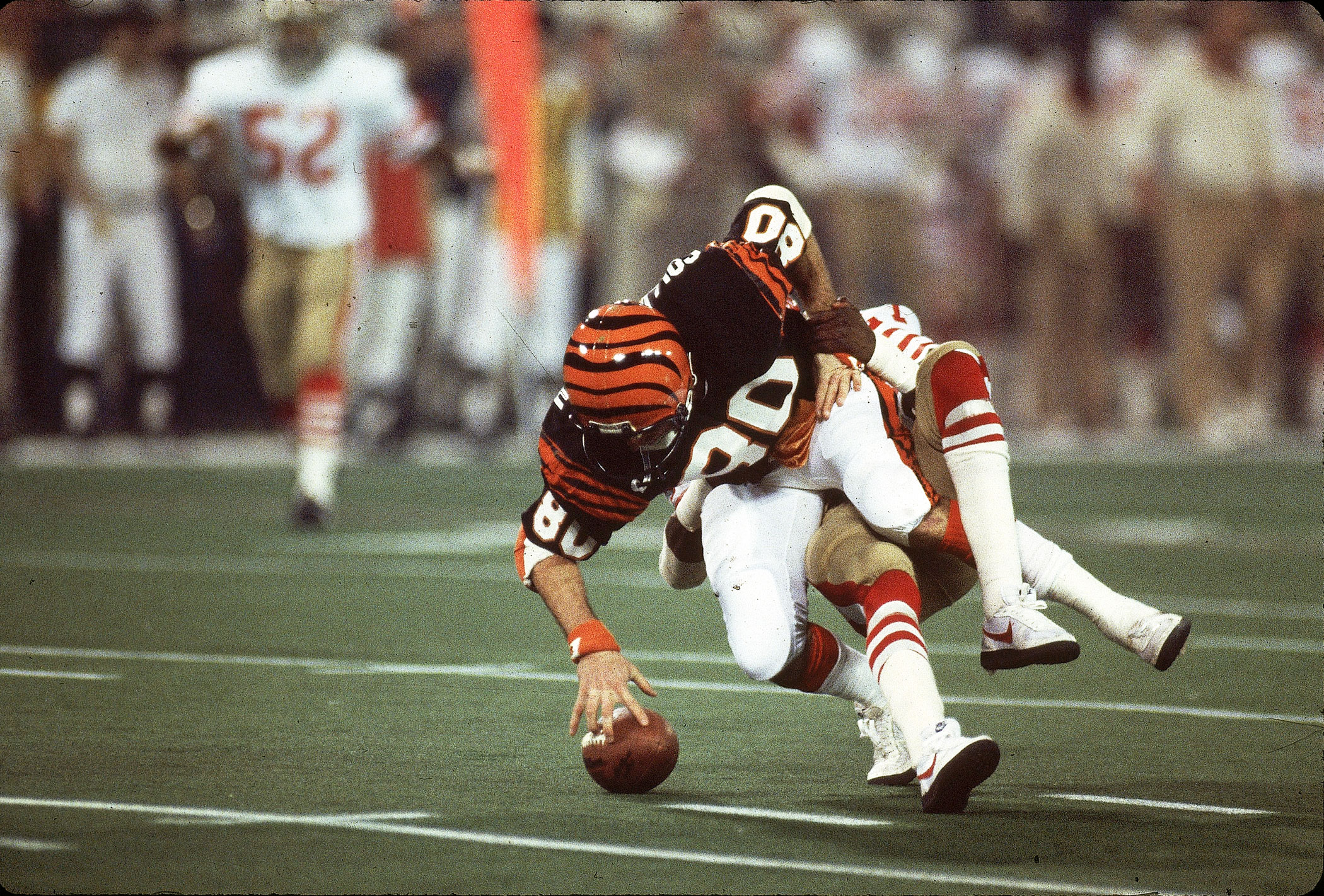 Super Bowl XVI, Jan. 24, 1982                               Cincinnati Bengals vs San Francisco 49ers in Pontiac, Mich.