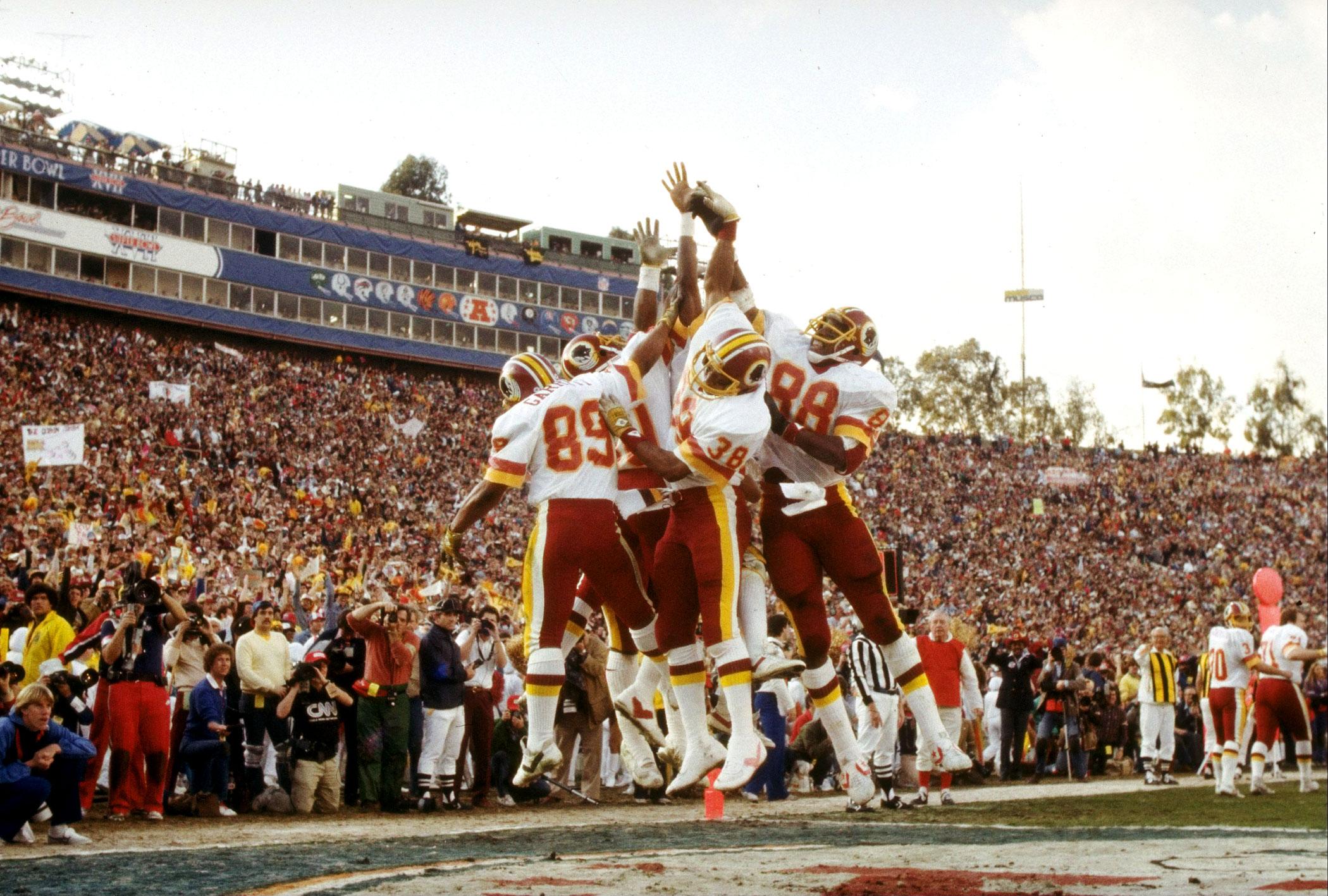 Super Bowl XVII, Jan. 30, 1983                               Washington Redskins vs Miami Dolphins in Pasadena, Calif.