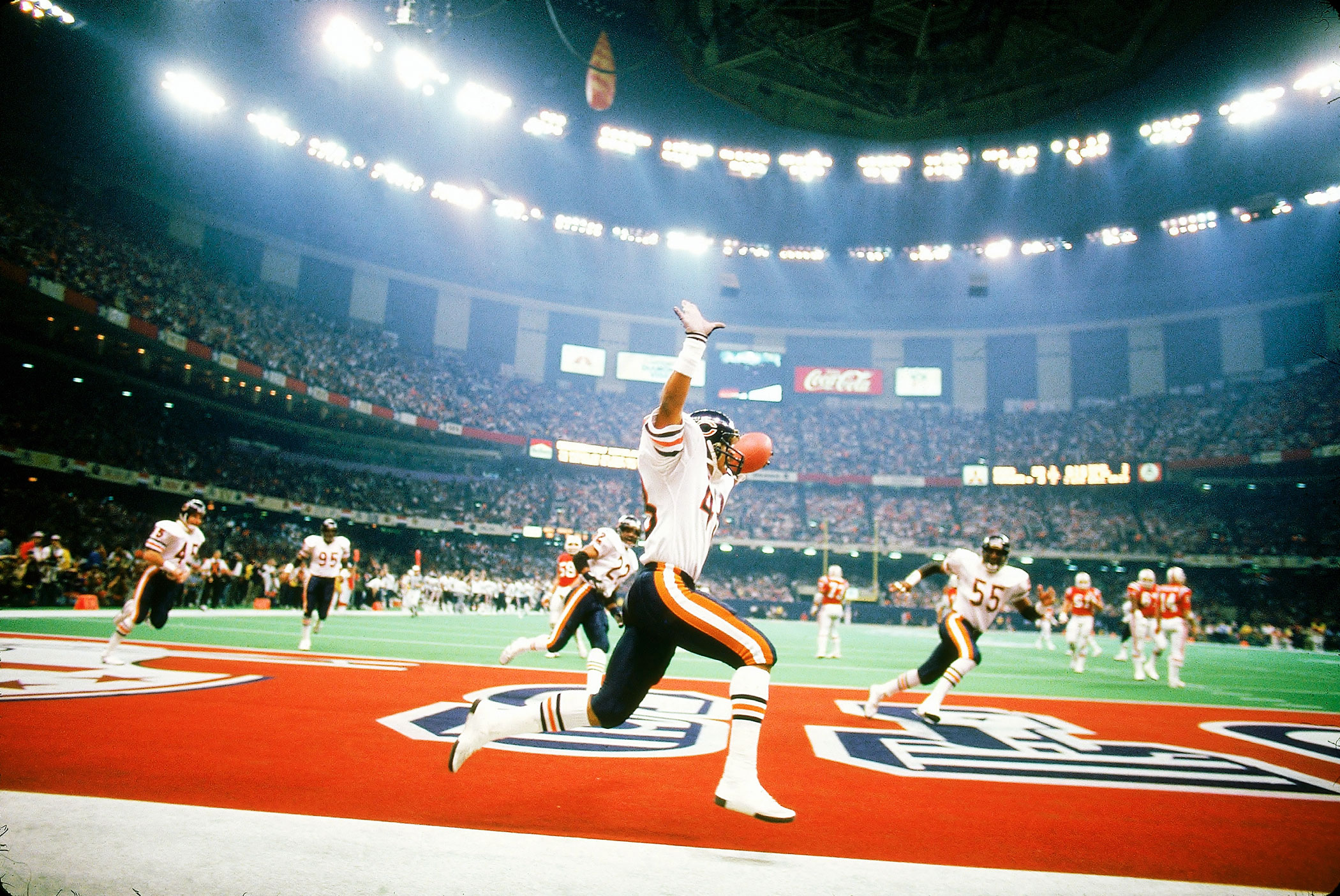Super Bowl XX, Jan. 26, 1986                               Chicago Bears vs. New England Patriots in New Orleans