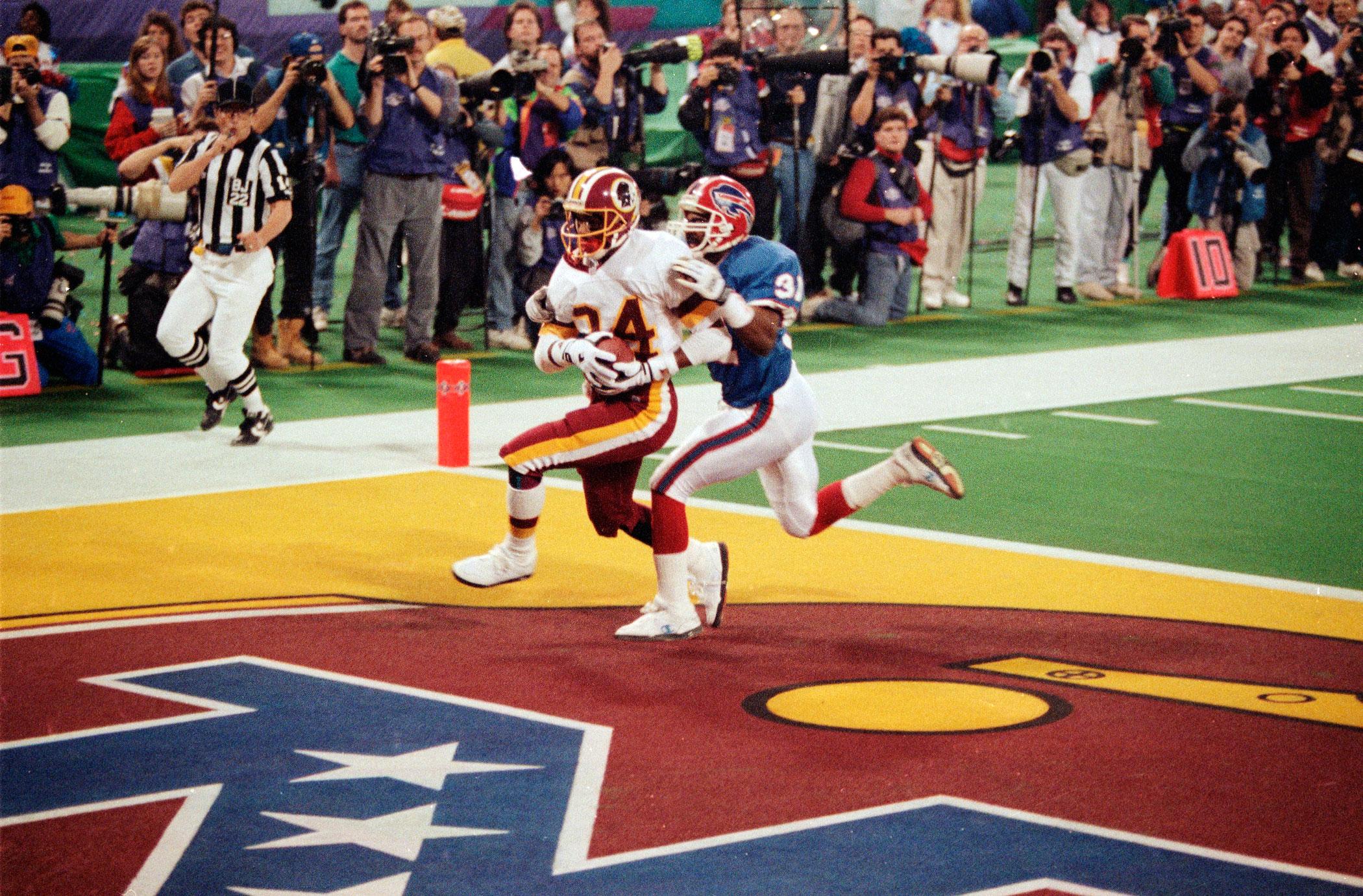 Super Bowl XXVI, Jan. 26, 1992                               Washington Redskins vs. Buffalo Bills in Minneapolis