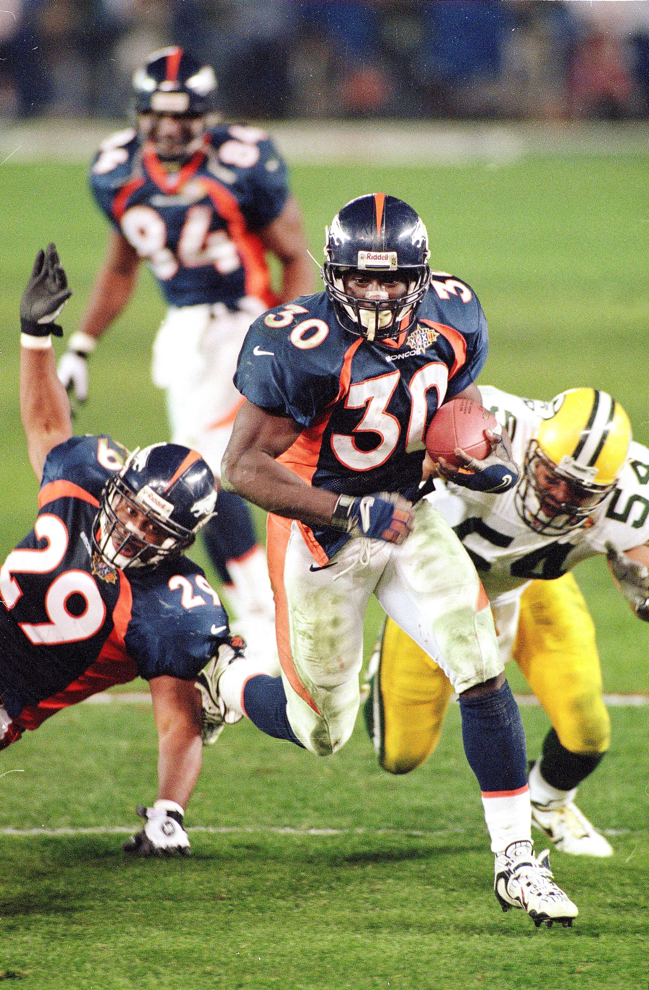 Super Bowl XXXII, Jan. 25, 1998                               Denver Broncos vs Green Bay Packers in San Diego