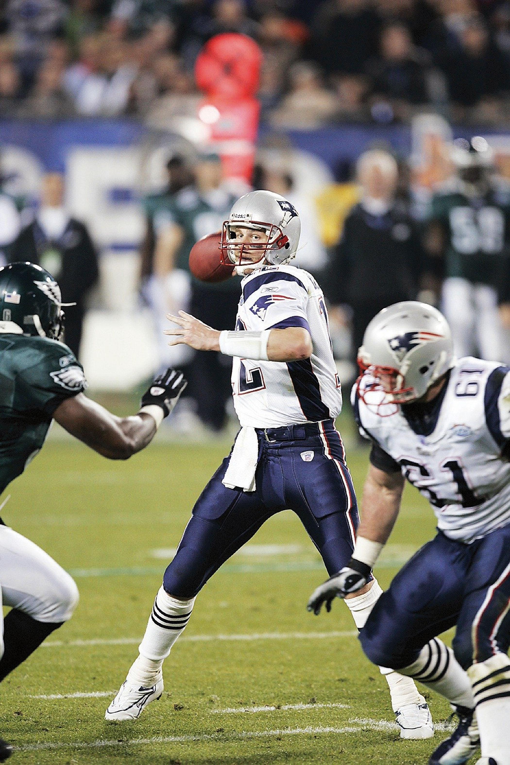 Super Bowl XXXIX, Feb. 6, 2005                               New England Patriots vs Philadelphia Eagles in Jacksonville, Fla.