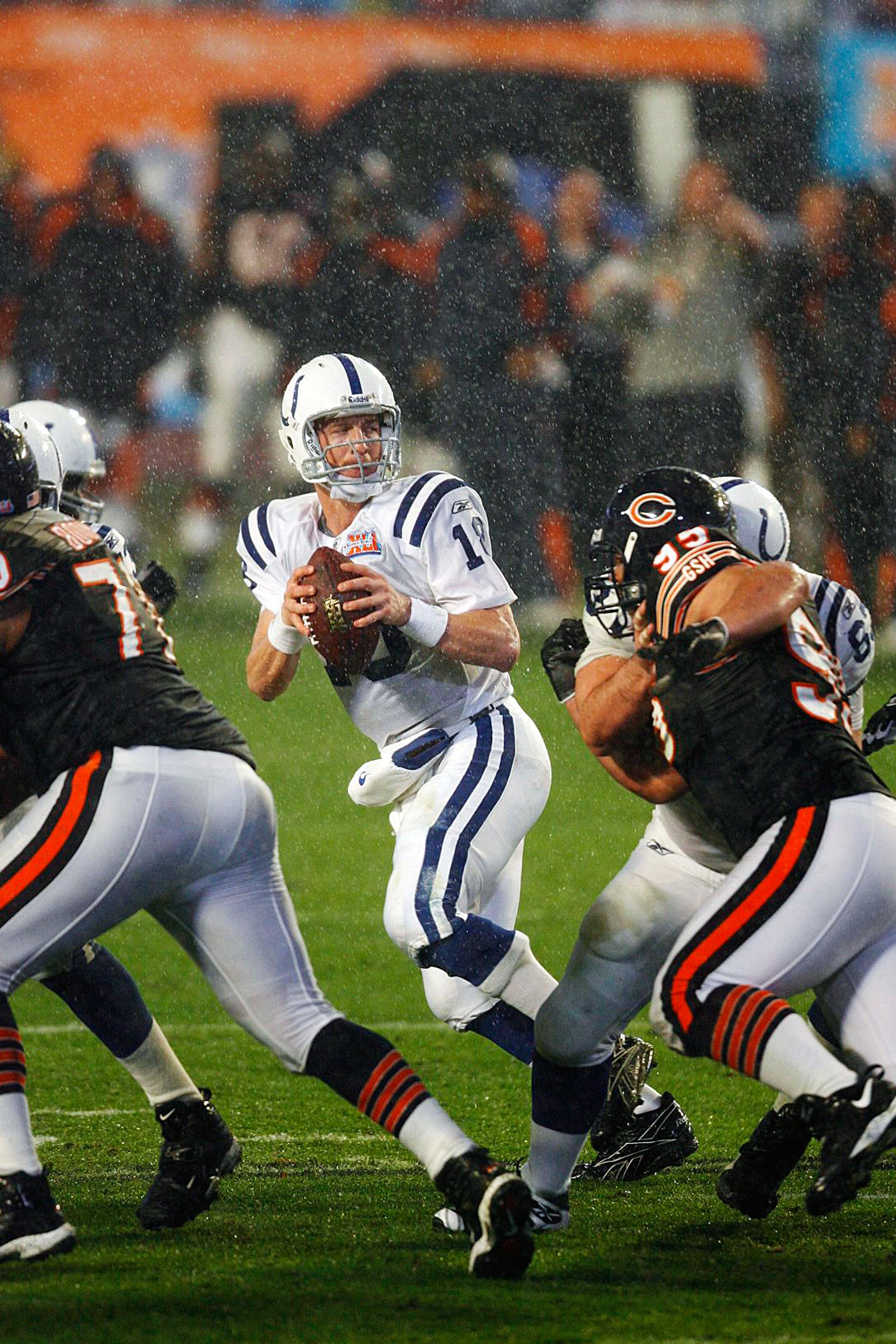 Super Bowl XLI, Feb. 4, 2007                               Chicago Bears vs. Indianapolis Colts in Miami