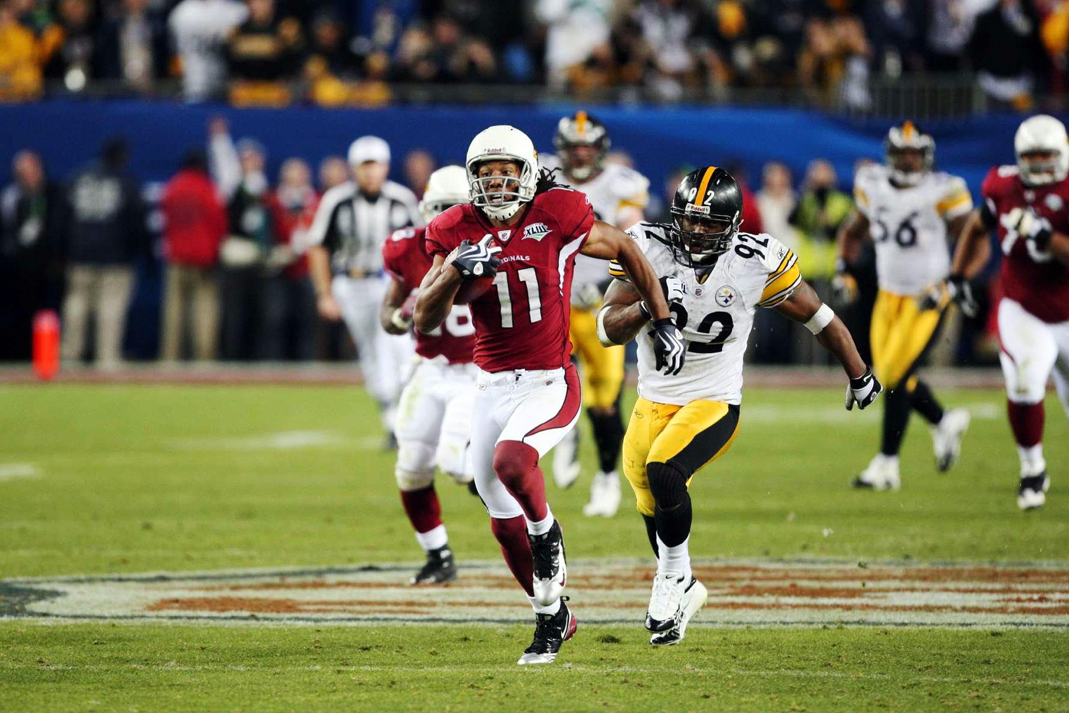 Super Bowl XLIII, Feb. 1, 2009                               Arizona Cardinals vs Pittsburgh Steelers in Tampa, Fla.