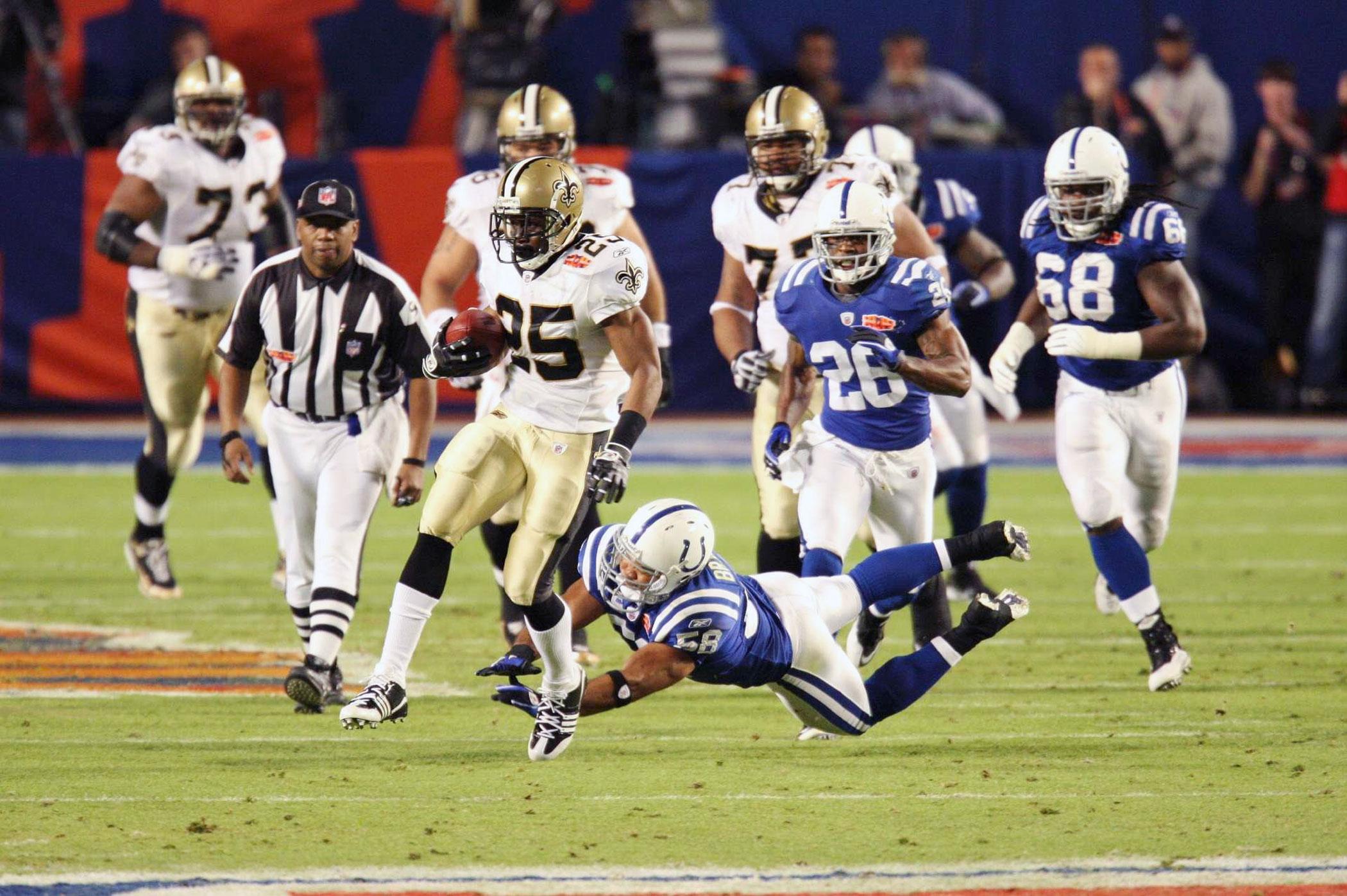 Super Bowl XLIV, Feb. 7, 2010                               New Orleans Saints vs. Indianapolis Colts in Miami
