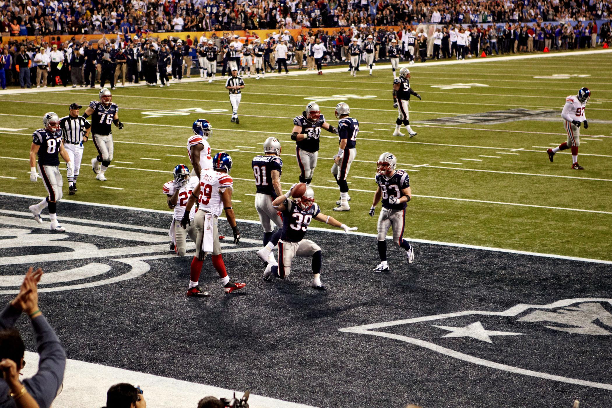 Super Bowl XLVI, Feb. 5, 2012                               New England Patriots vs New York Giants in Indianapolis