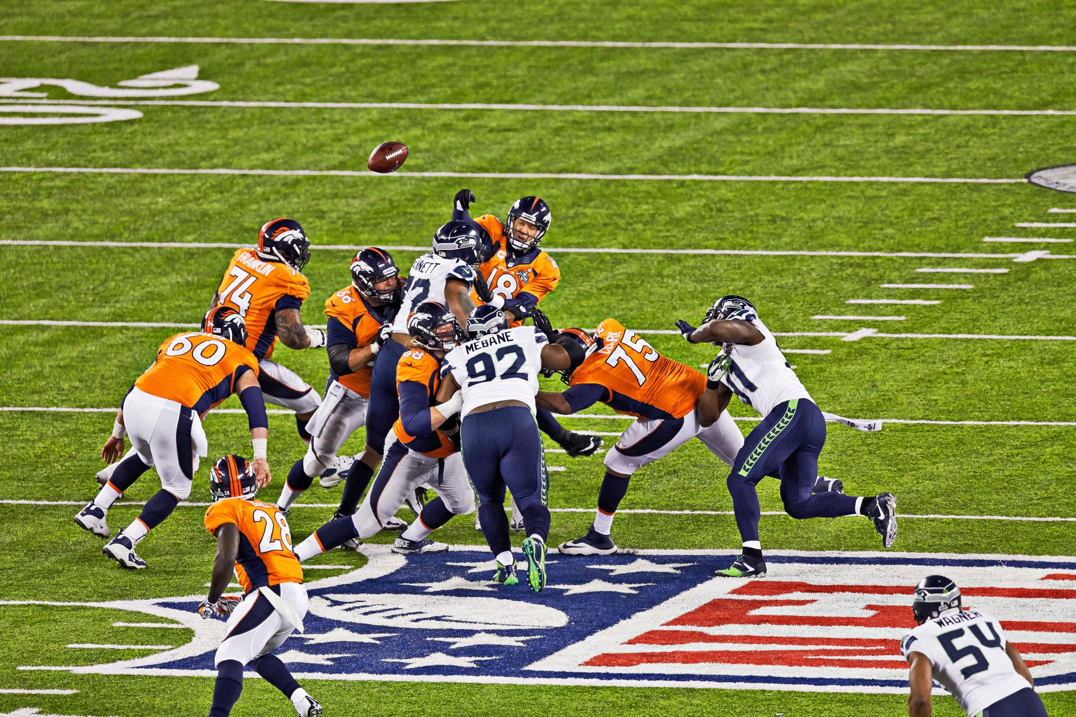 Super Bowl XLVIII, Feb. 2, 2014                               Seattle Seahawks vs. Denver Broncos in East Rutherford, N.J.