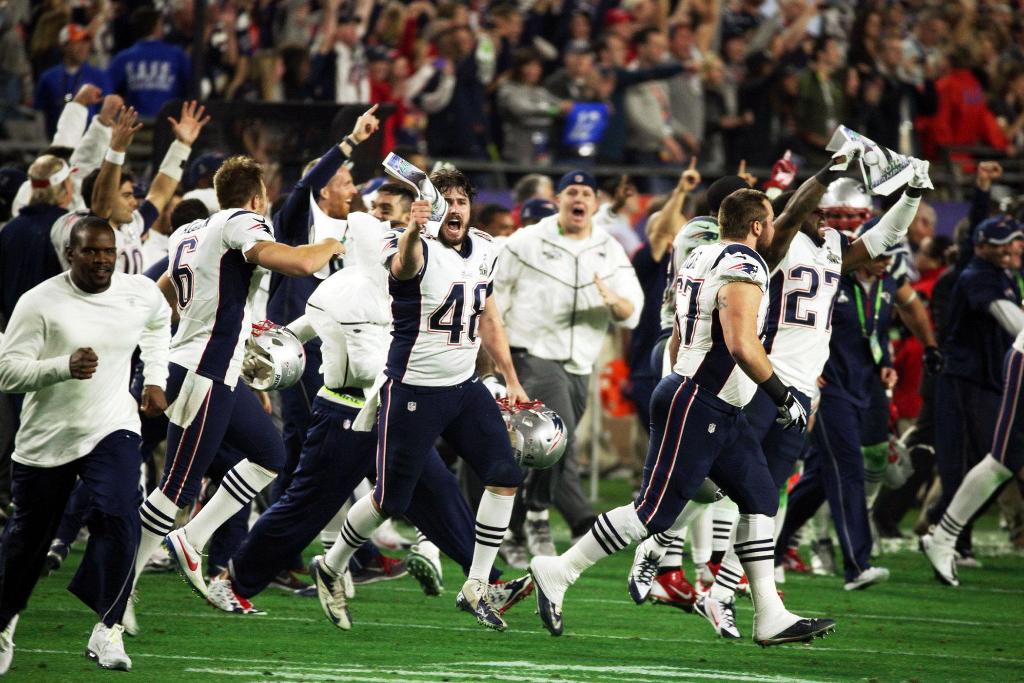 Super Bowl XLIX, Feb. 1, 2015                               New England Patriots vs Seattle Seahawks in Phoenix, Ariz.