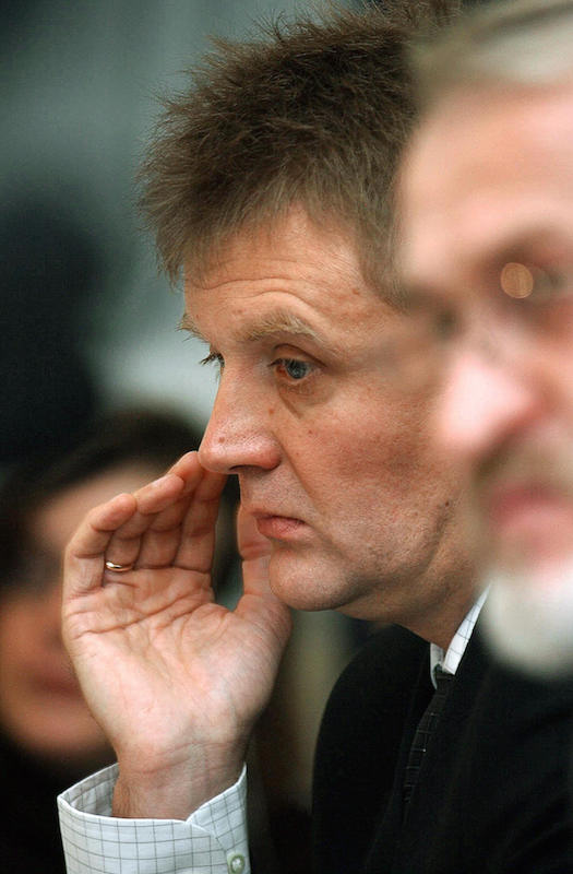 Alexander Litvinenko, a former Russian intelligence agent, and later a political refugee in Britain, giving a press conference  in London on Sept. 14, 2004