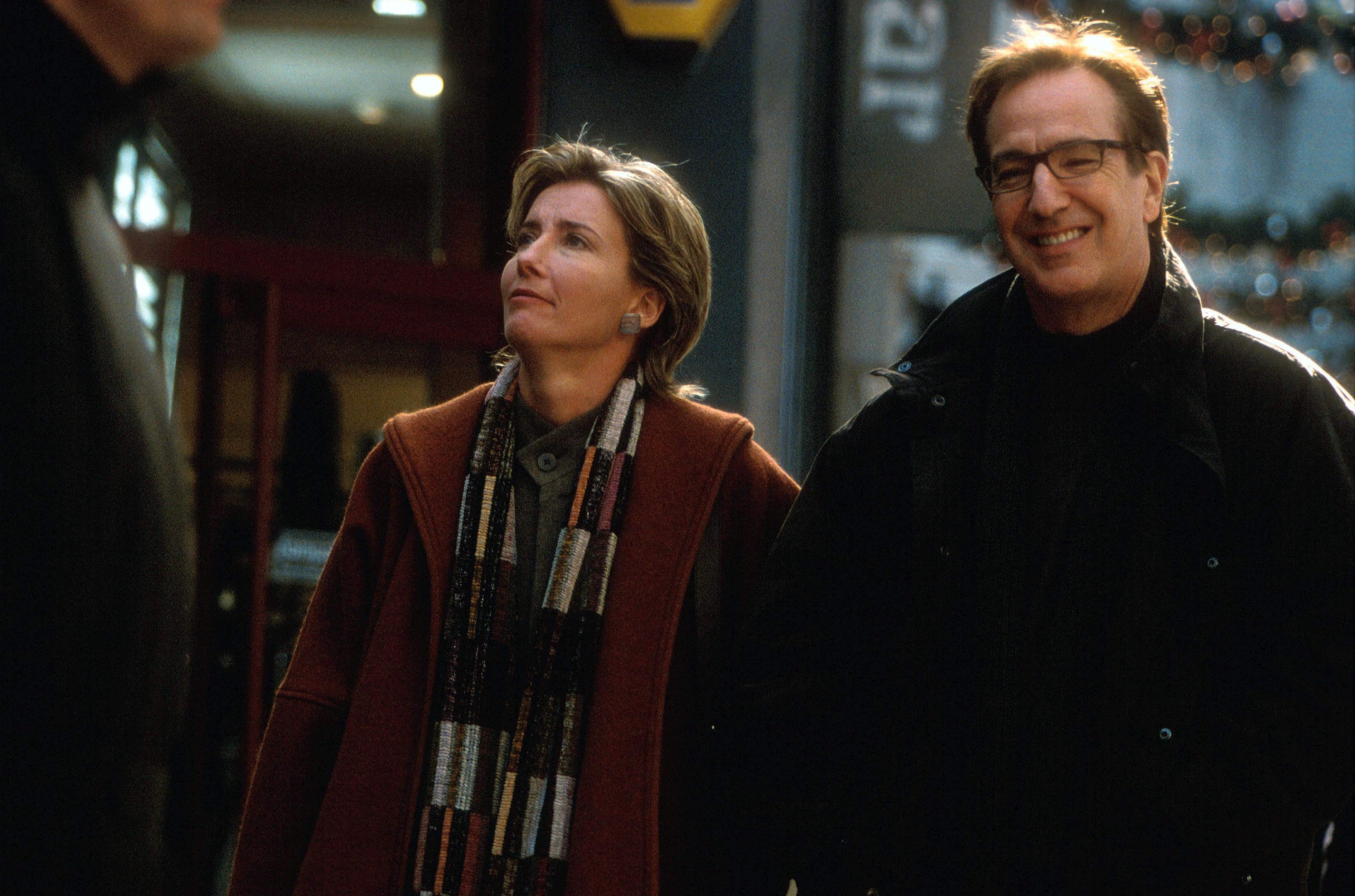 Emma Thompson and Alan Rickman in Love Actually, 2003.