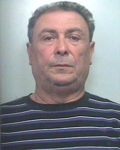 Salvatore Greco, 61, head of the Brunetto Sicilian mafia clan of Riposto, a town on the Ionian coast of Sicily who organized immigration smuggling with Egyptians, in a mug shot in Siracusa, March 24, 2011.