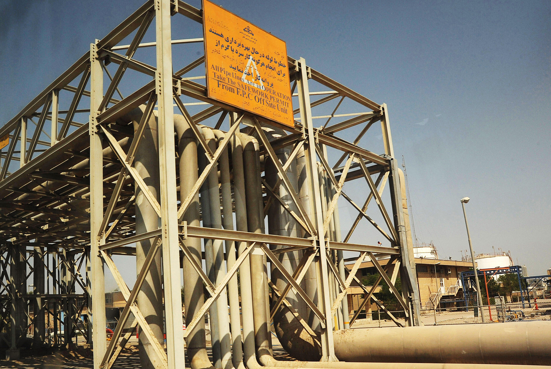 Oil industry installations in Mahshahr, Khuzestan province, southern Iran.