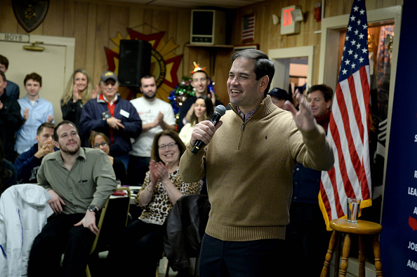 Republican presidential candidate Marco Rubio speaks at a pancake breakfast at the Franklin VFW in Franklin, N.H., Dec. 23, 2015.