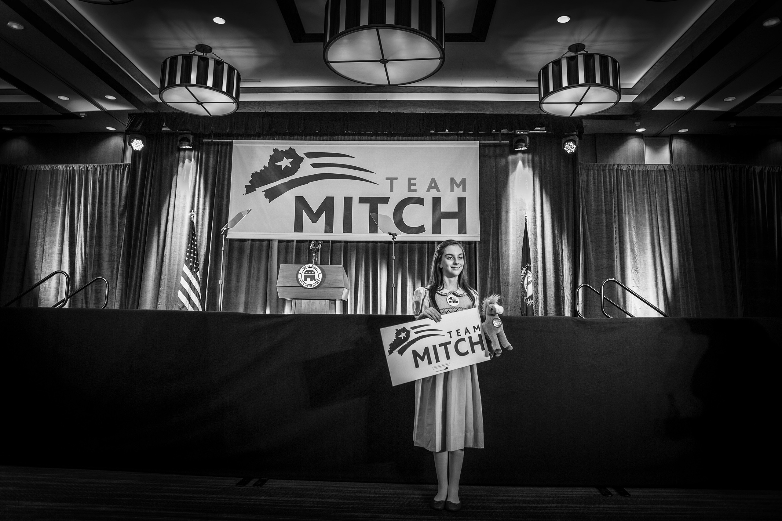 Election night in Kentucky on Nov. 4, 2014. McConnell was re-elected for a sixth term.