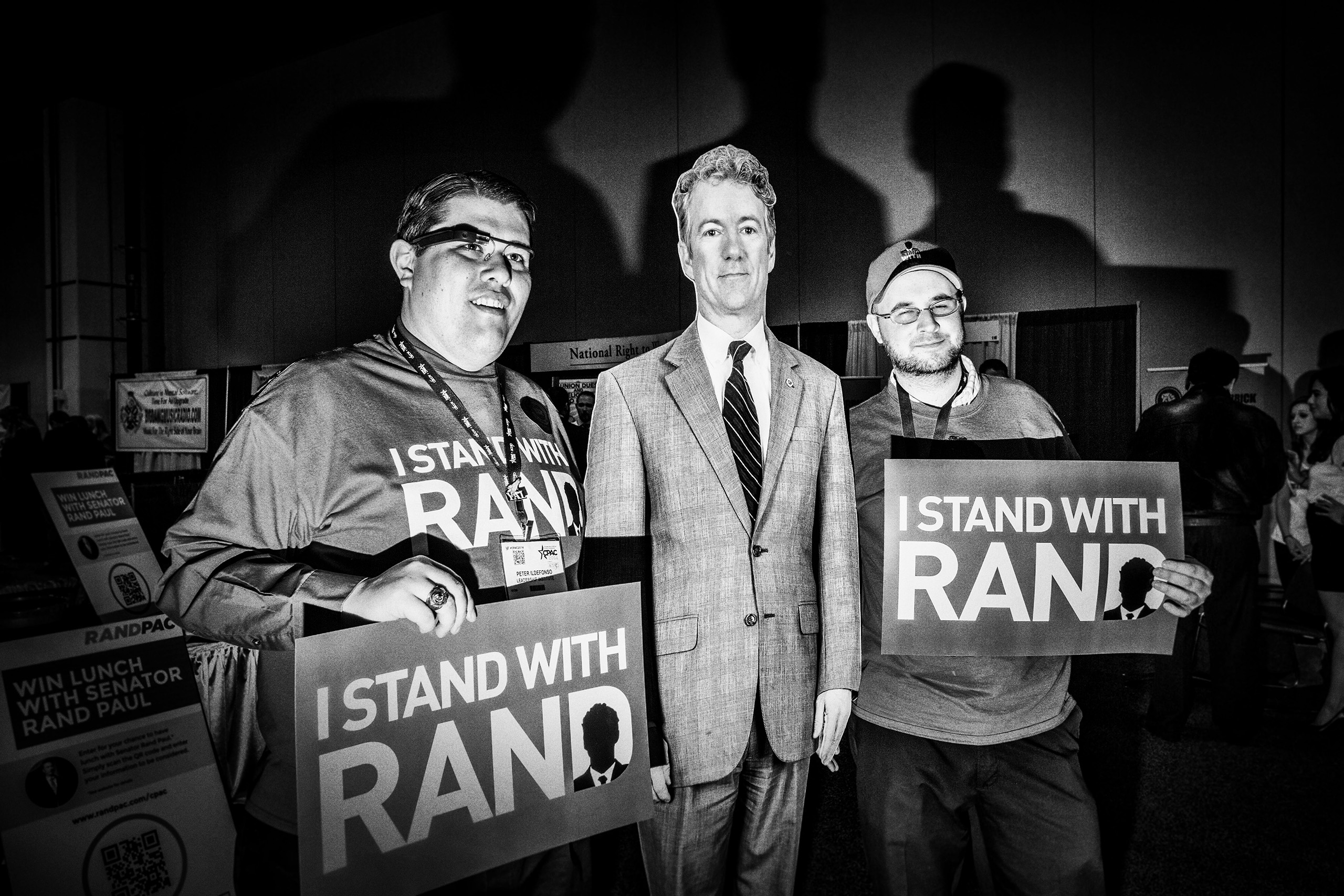 A Rand Paul cutout at the Conservative Political Action Conference in National Habor, Md.