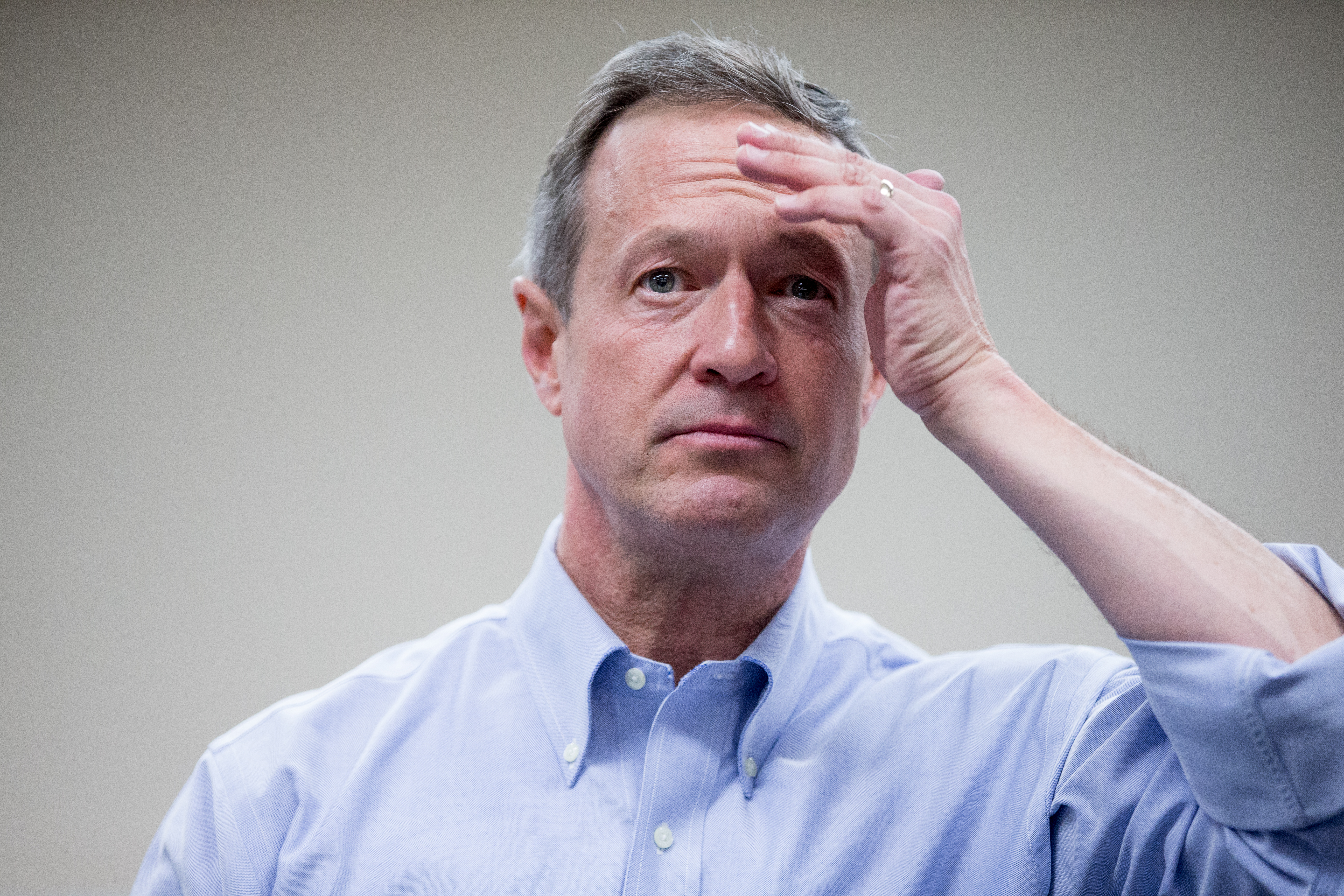 Democratic presidential candidate, former Maryland Gov. Martin O'Malley pauses as he speaks at the West Des Moines Public Library in West Des Moines, Iowa, Saturday, Jan. 2, 2016.