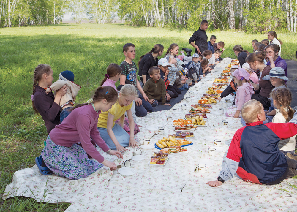 After games and church service on a Sunday afternoon in Petrovka, Russia, 2013.