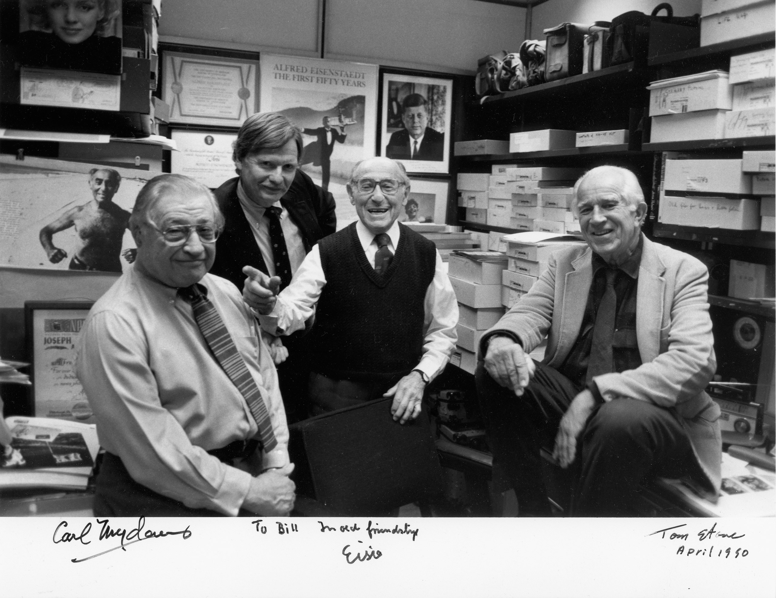 LIFE photographers (l-r) Carl Mydans, Bill Ray, Alfred Eisensteadt and David Douglas Duncan.