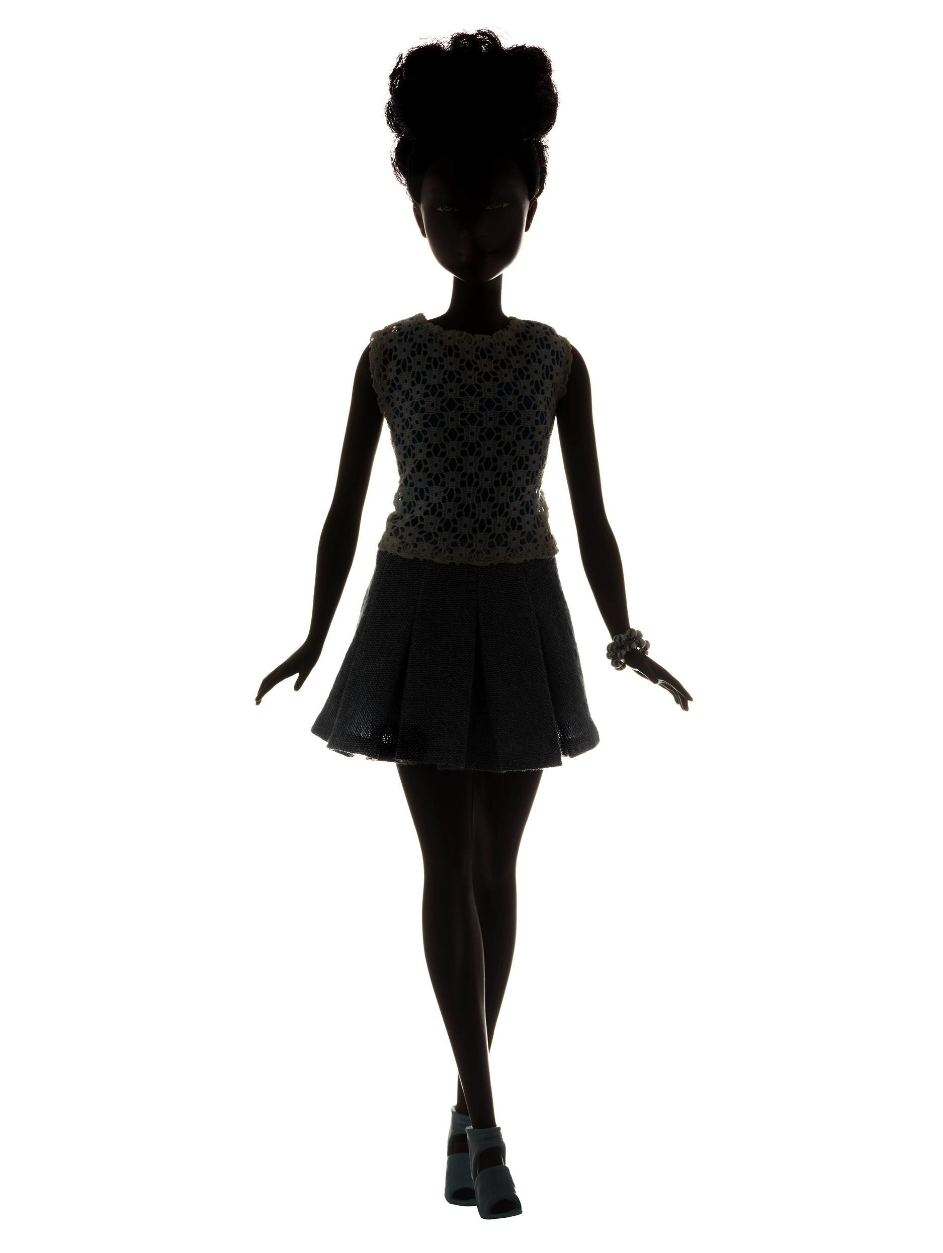 A silhouette of Mattel's new Petite Barbie