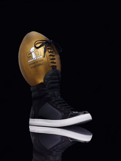 Super Bowl 50 bespoke designer footballs designed by noted fashion designers