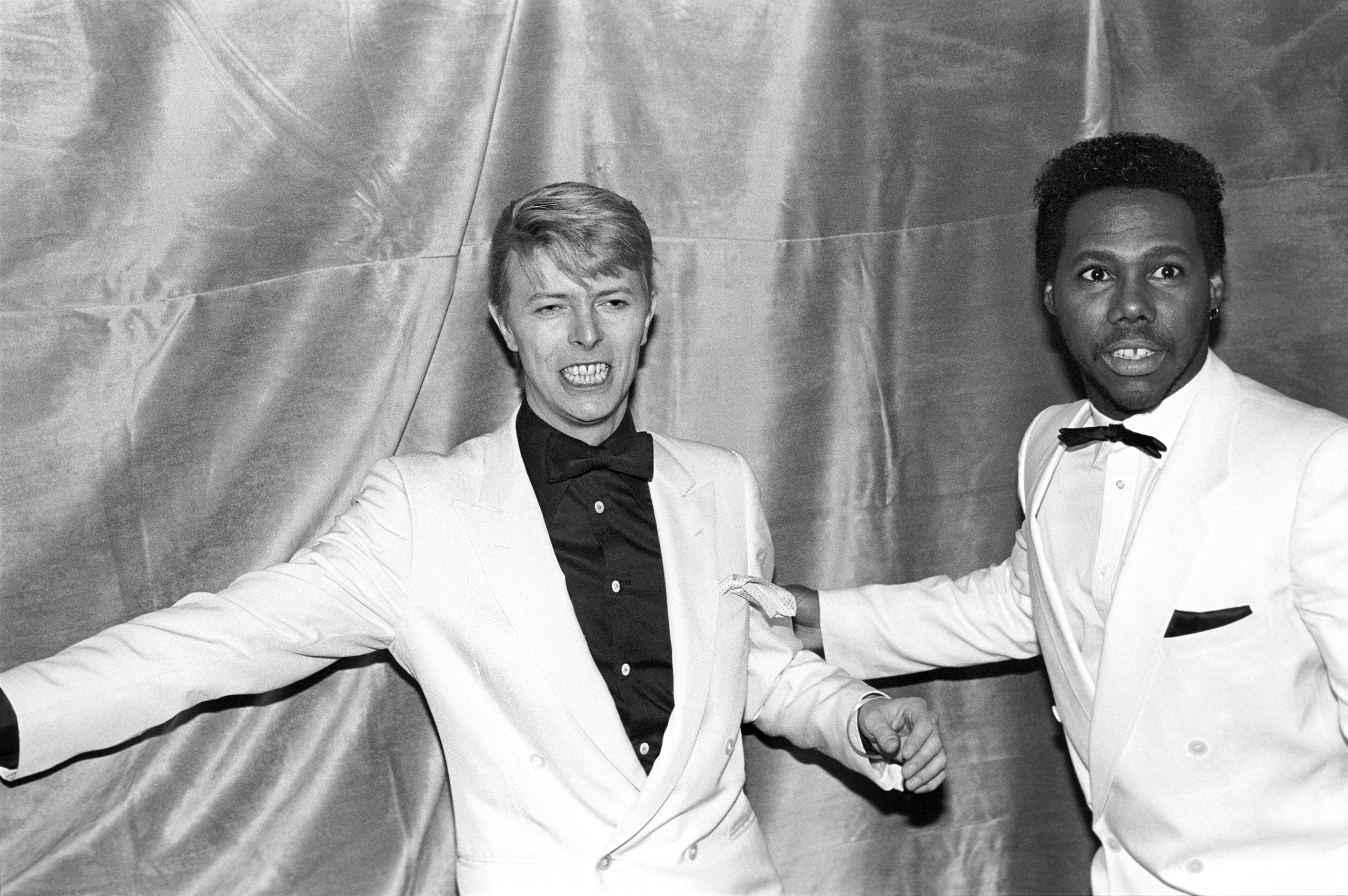 David Bowie with Nile Rodgers of Chic at the Frankie Crocker Awards at the Savoy in New York, on Jan. 21, 1983.