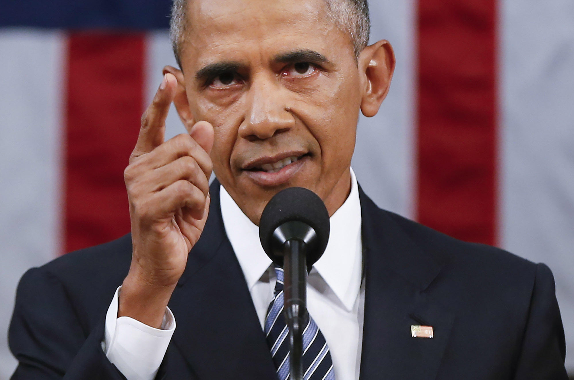 President Barack Obama delivers his State of the Union address before a joint session of Congress on Capitol Hill in Washington, D.C., on Jan. 12, 2016.