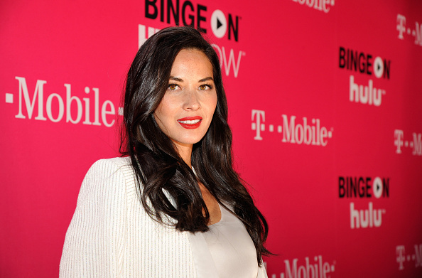 Actress Olivia Munn attends T-Mobile Un-carrier X Launch Celebration at The Shrine Auditorium on November 10, 2015 in Los Angeles, California.