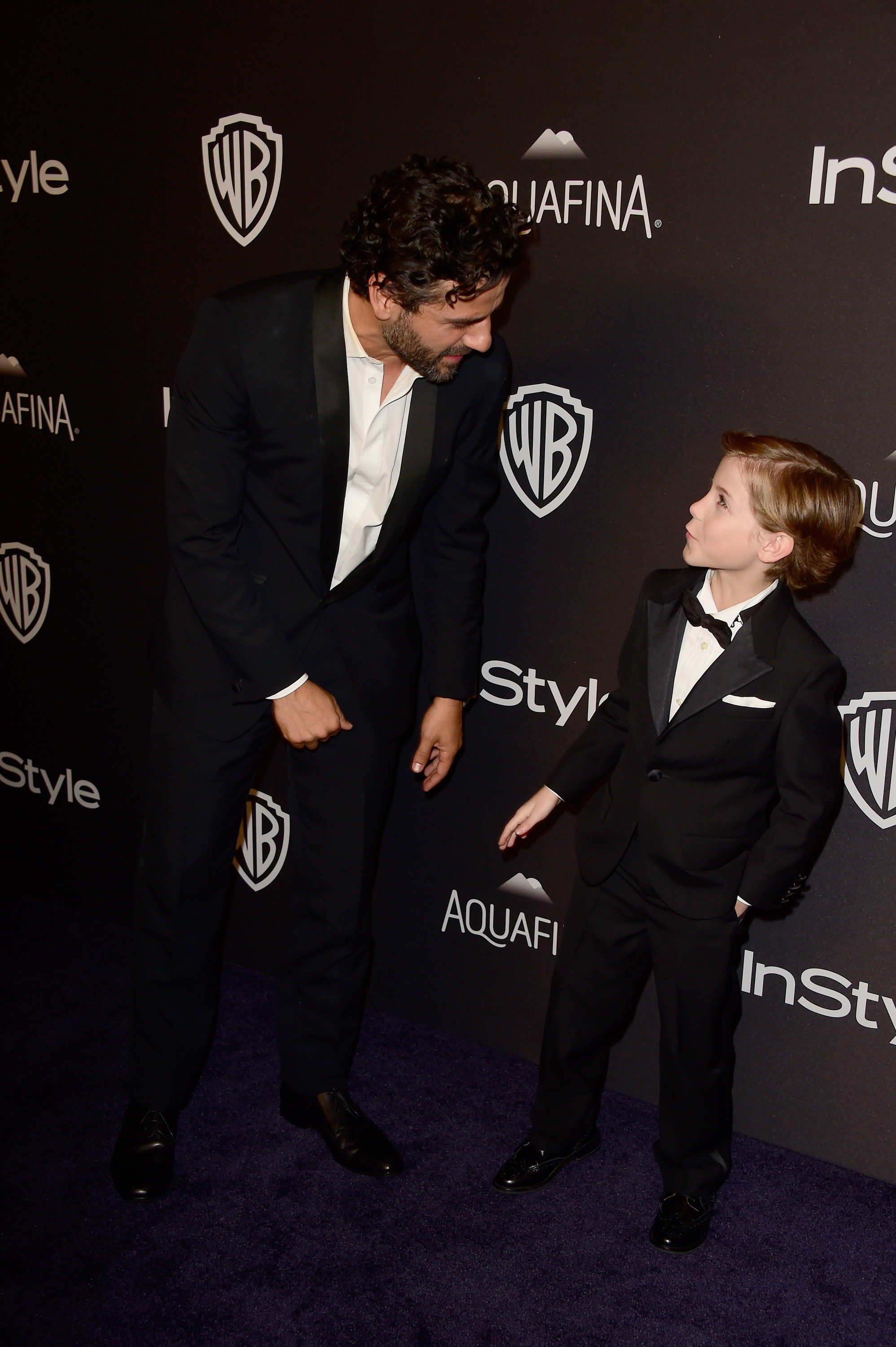 Oscar Isaac and Jacob Tremblay attend InStyle and Warner Bros. 73rd Annual Golden Globe Awards Post-Party at The Beverly Hilton Hotel in Los Angles on Jan. 10, 2016.
