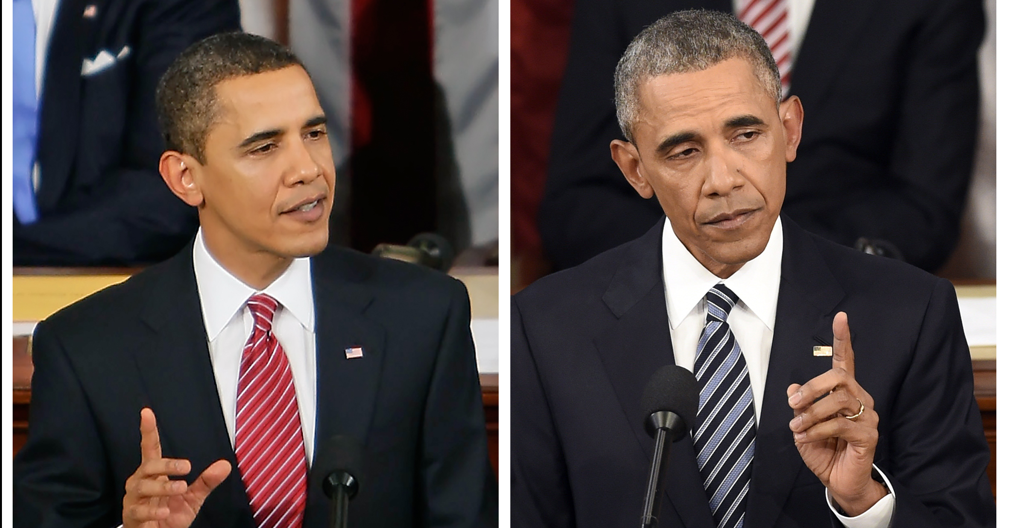See How President Obama Has Aged Since His 2009 Address | Time