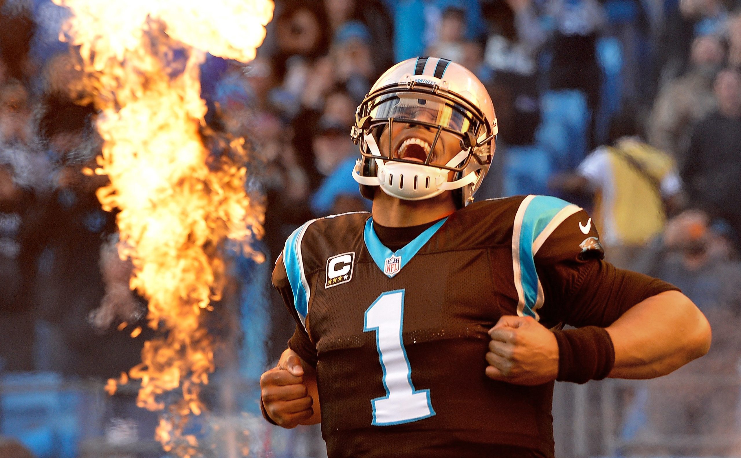 A fired-up Newton will lead Carolina against Denver and Peyton Manning in the Super Bowl on Feb.7