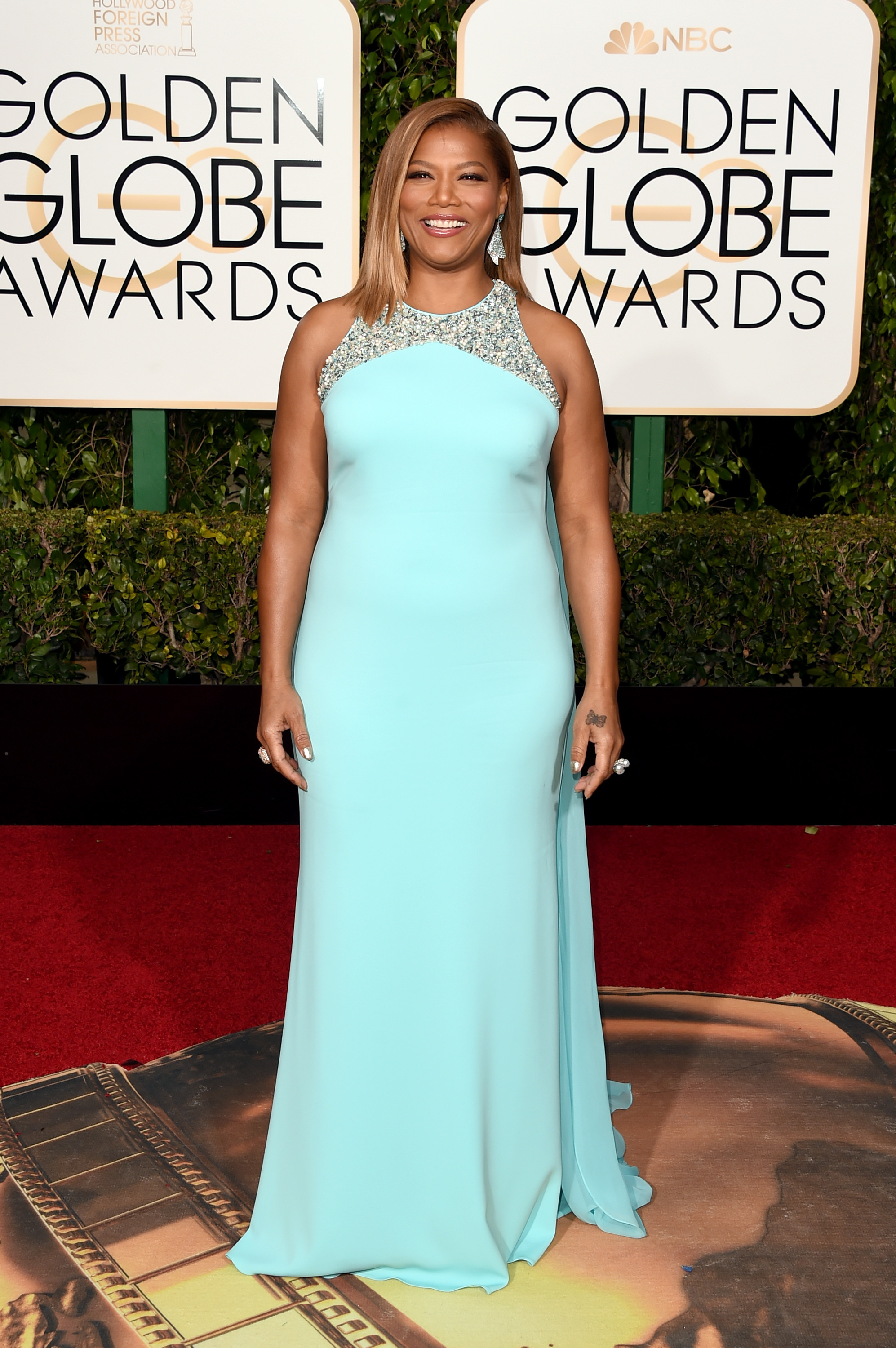 Queen Latifah arrives to the 73rd Annual Golden Globe Awards on Jan. 10, 2016 in Beverly Hills.