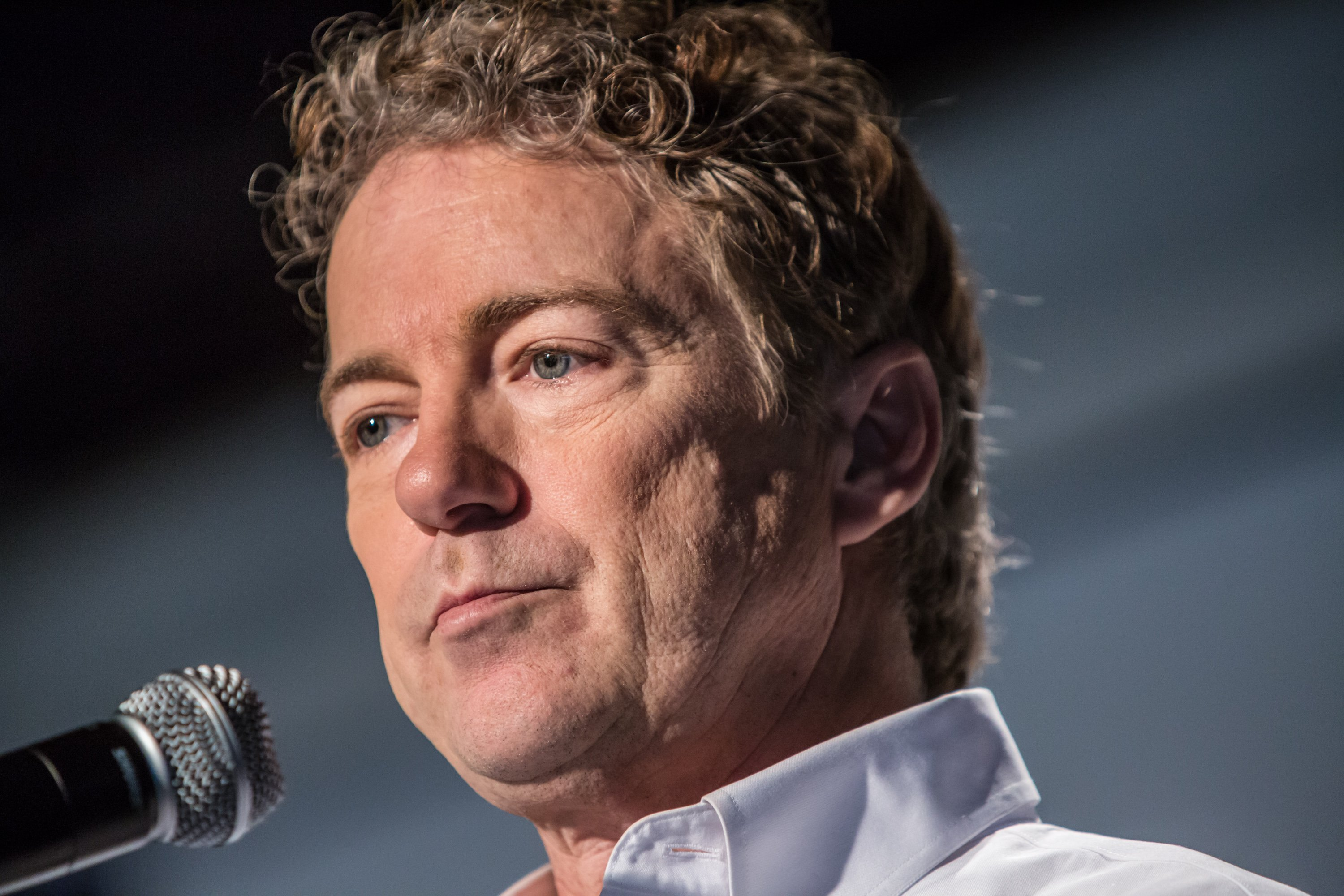 Rand Paul speaks at a campaign event at Drake University on Jan. 28, 2016 in Des Moines, Iowa.