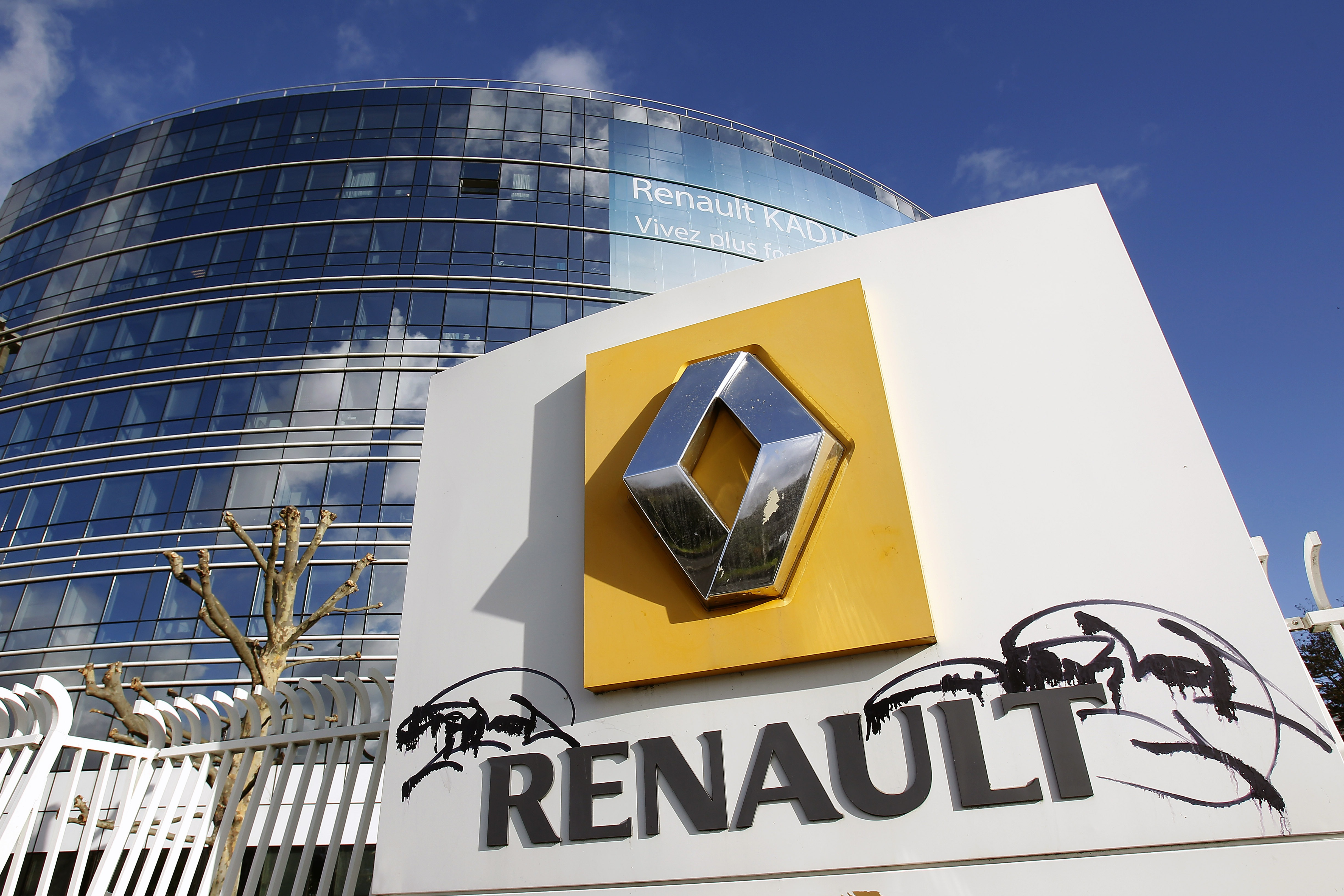 A general view of French carmaker Renault headquarters on January 14, 2016 in Boulogne-Billancourt, France.