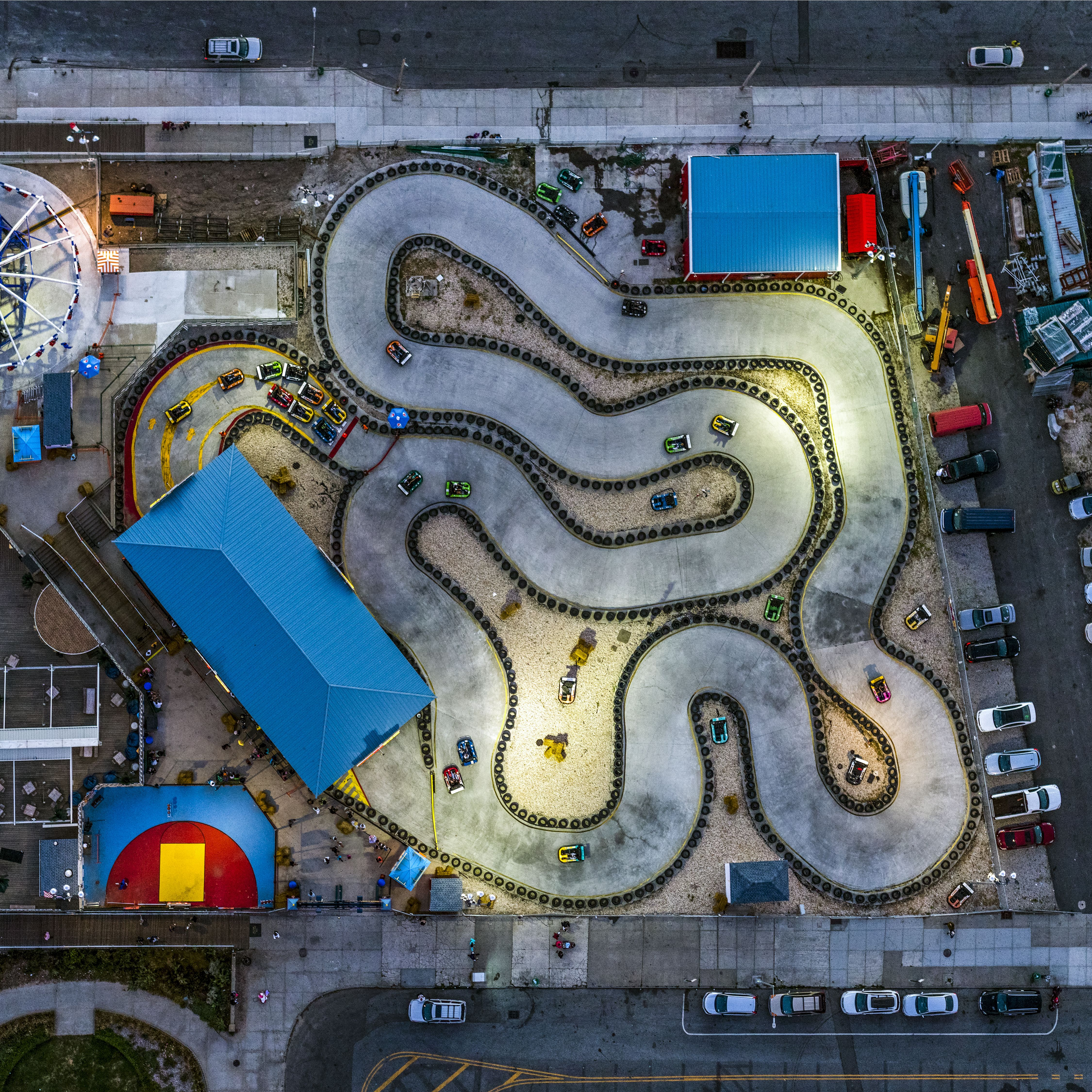 Coney Island go-kart race track, Brooklyn, New York City