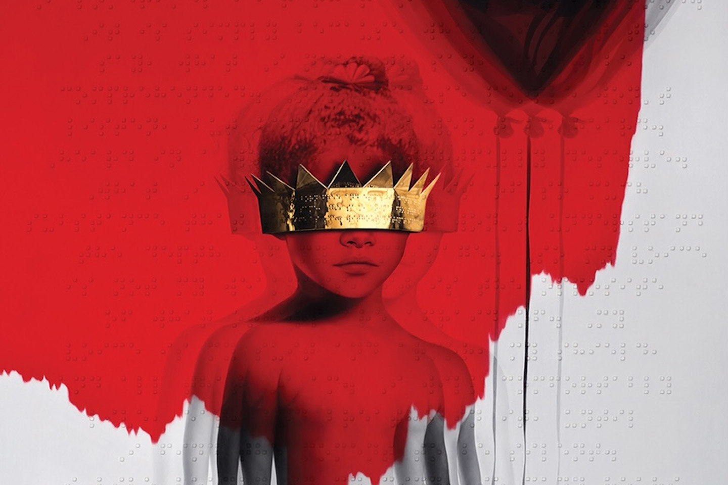 Part of the album artwork for Rihanna's new album, Anti, which is available now on Tidal.