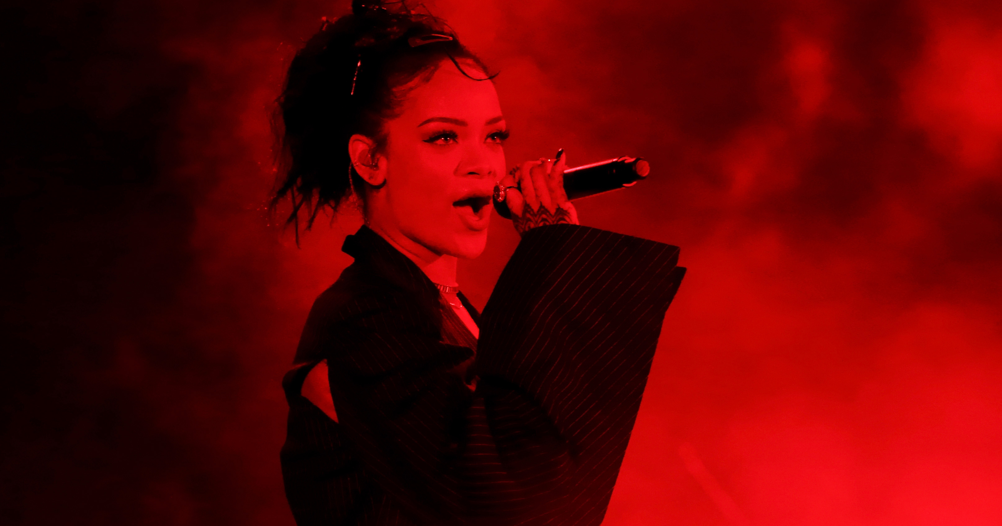 Rihanna performs on Oct. 24, 2015 in Hollywood, Calif.