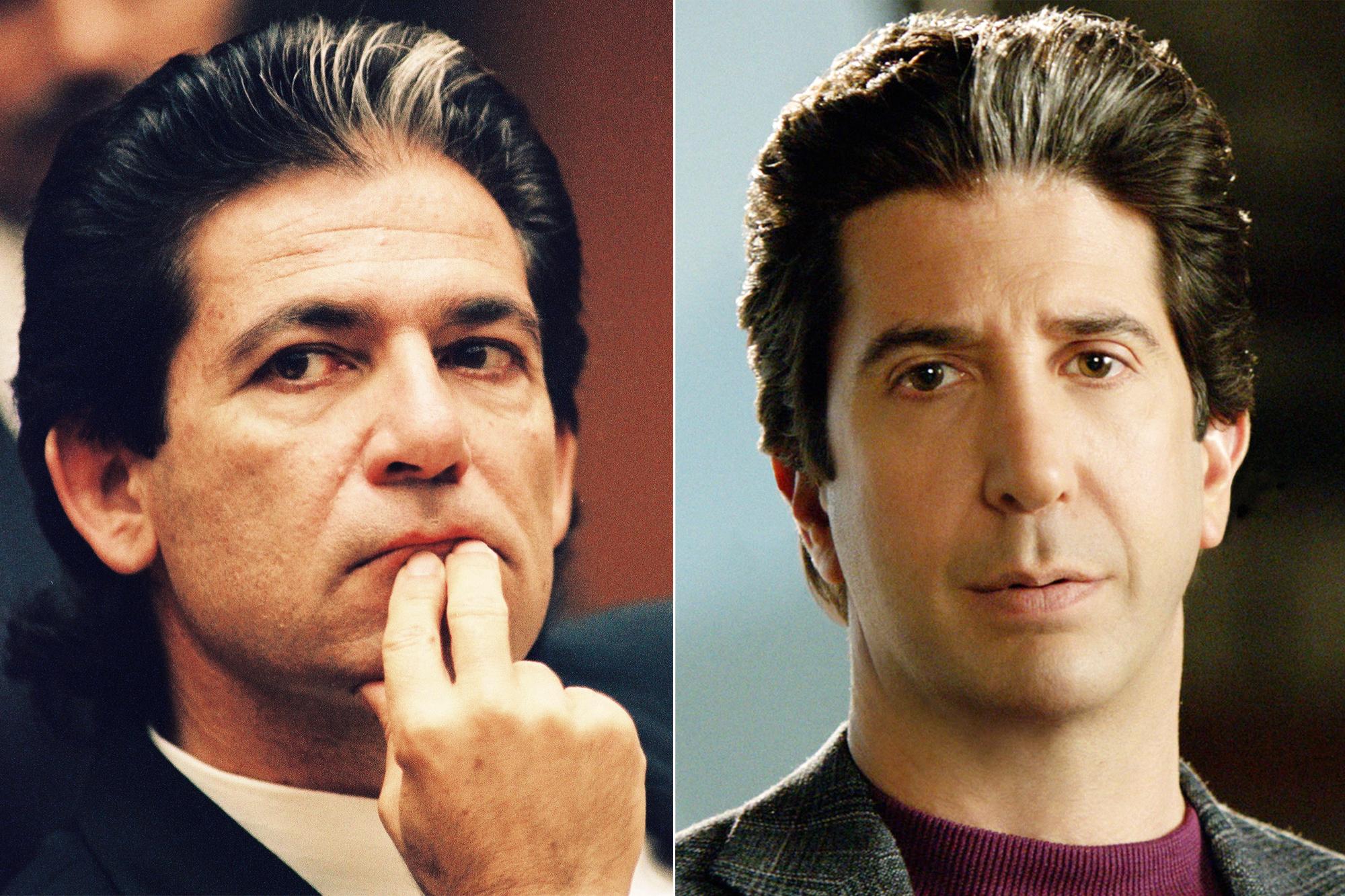 Left: Defense attorney Robert Kardashian; Right: David Schwimmer.