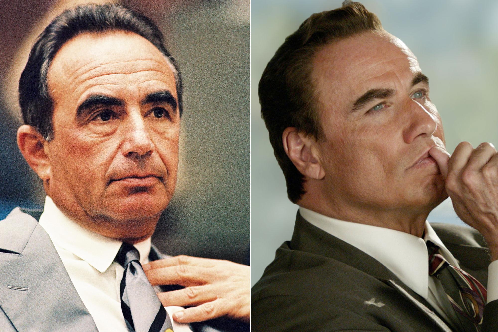 Left: Defense attorney Robert Shapiro; Right:  John Travolta.