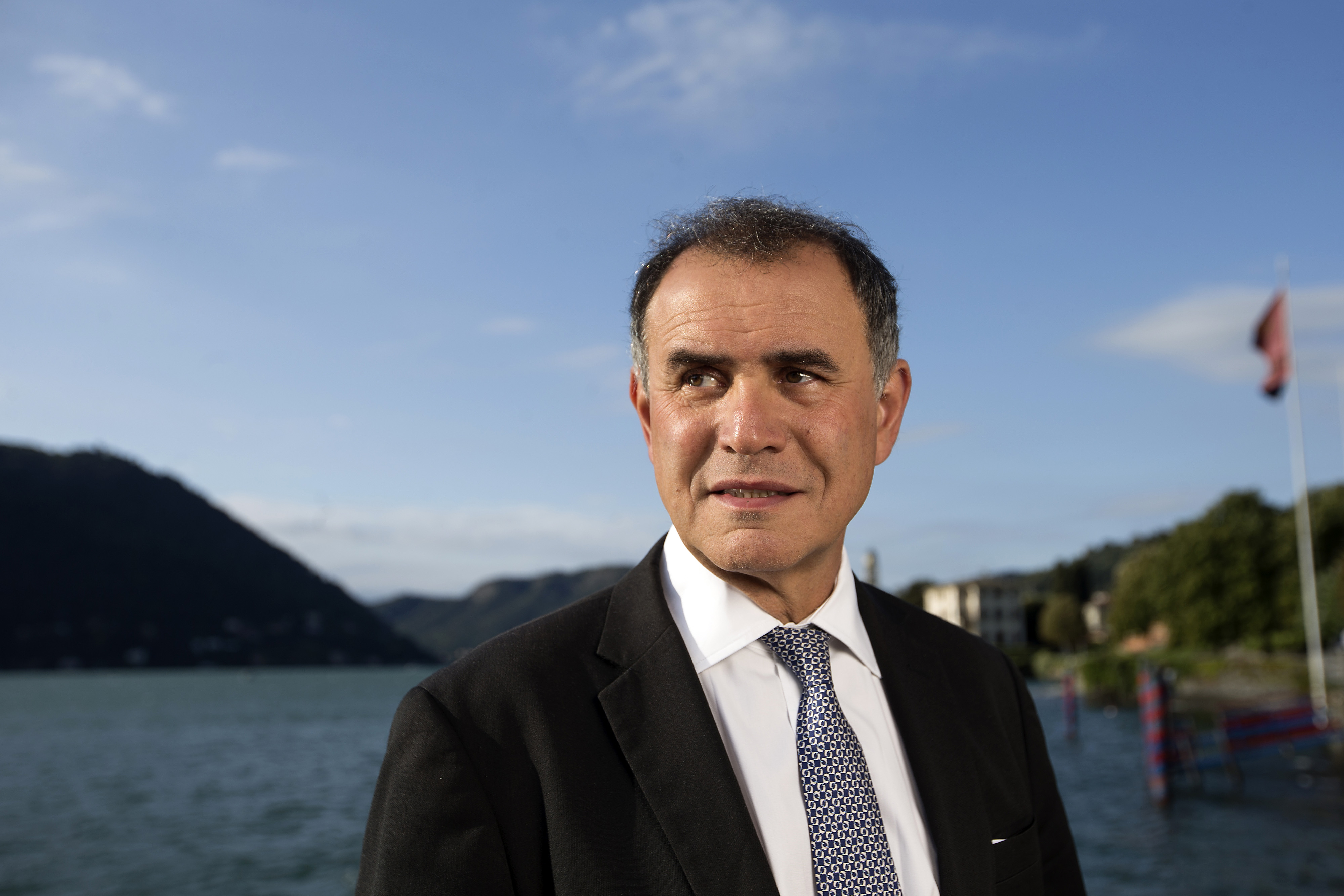 Nouriel Roubini, chairman of Roubini Global Economics, at the Ambrosetti Forum in Cernobbio, Italy, on Sept. 4, 2015.