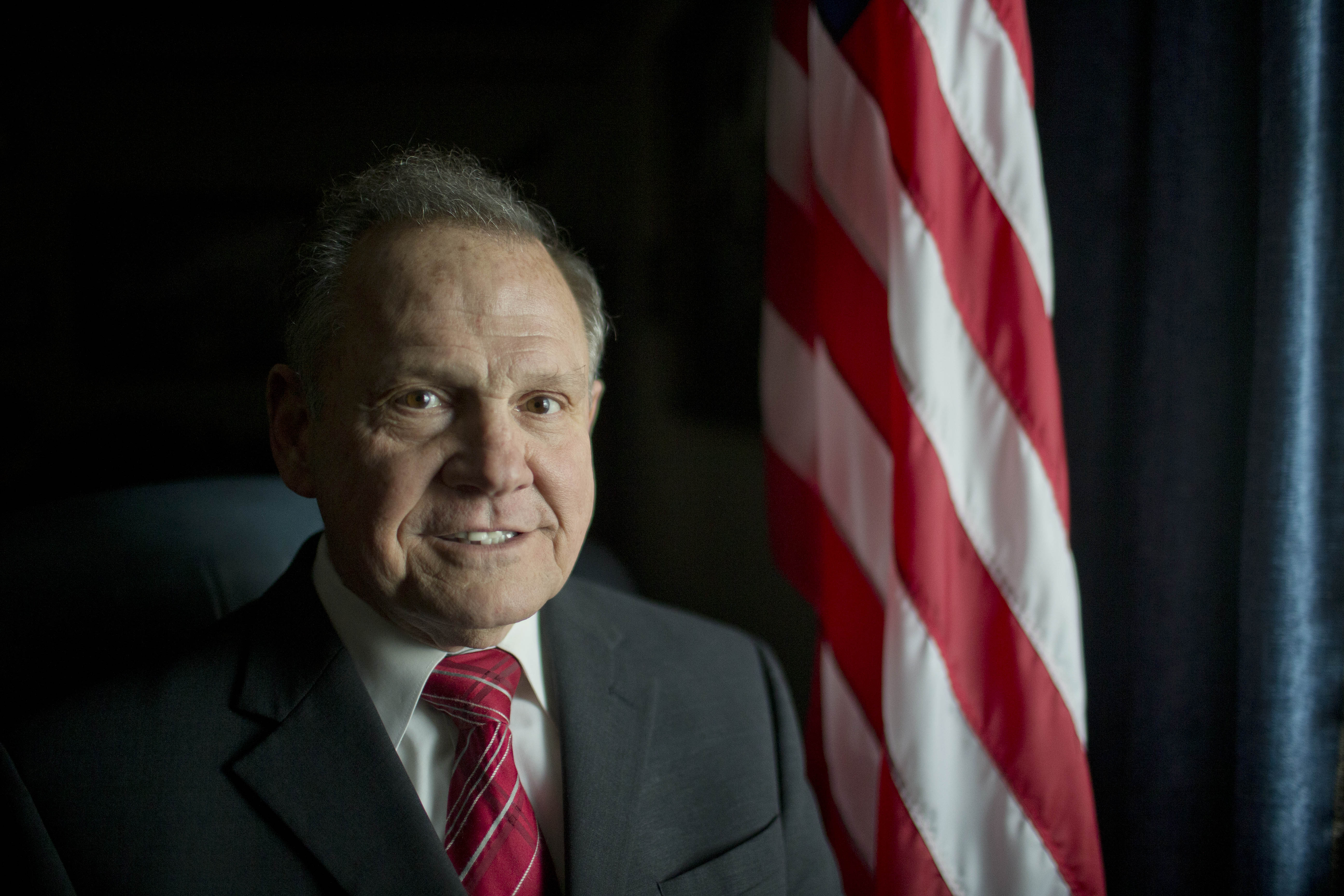 Roy Moore poses in Montgomery, Ala. on Feb. 17, 2015.