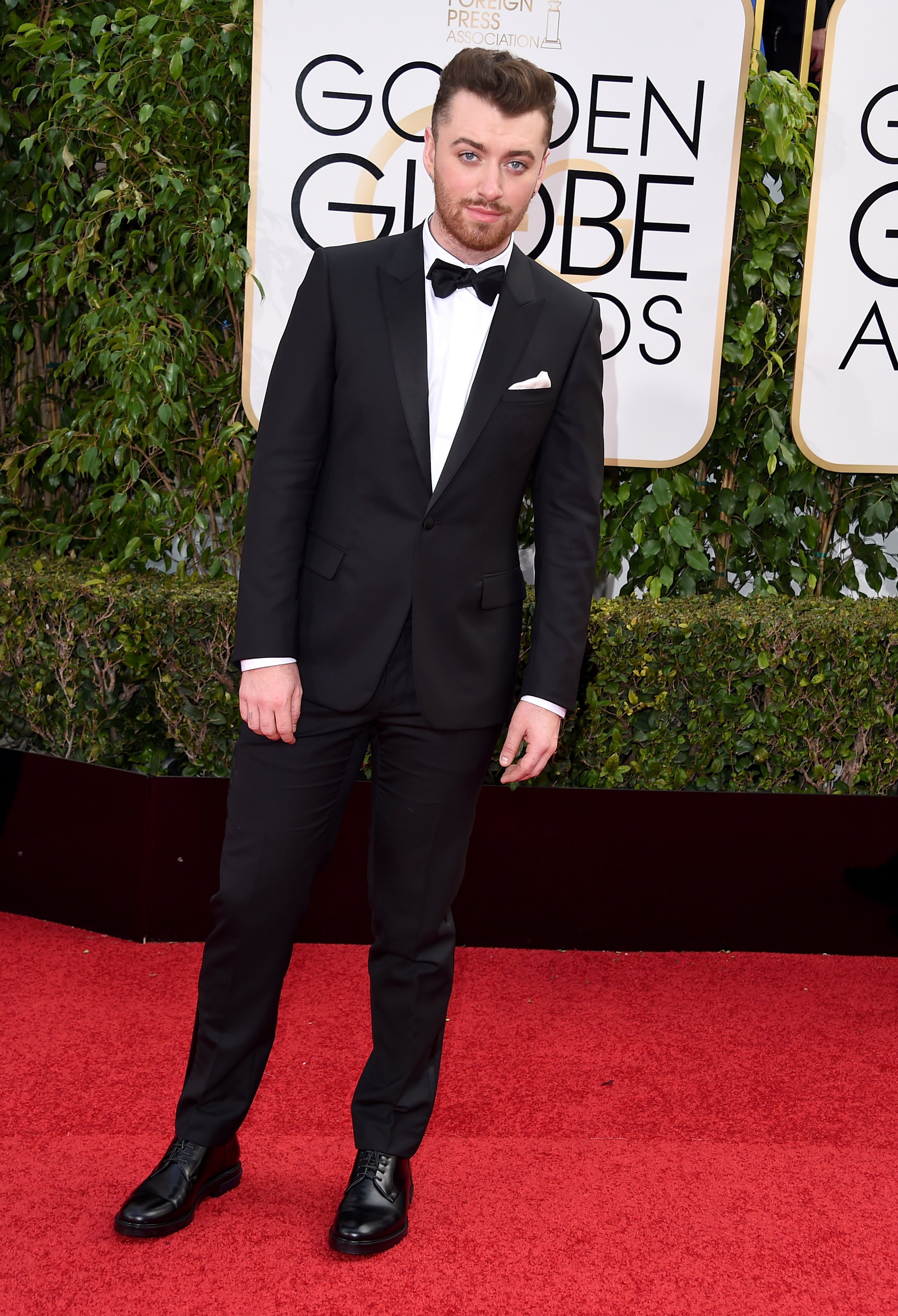 Sam Smith arrives to the 73rd Annual Golden Globe Awards on Jan. 10, 2016 in Beverly Hills.