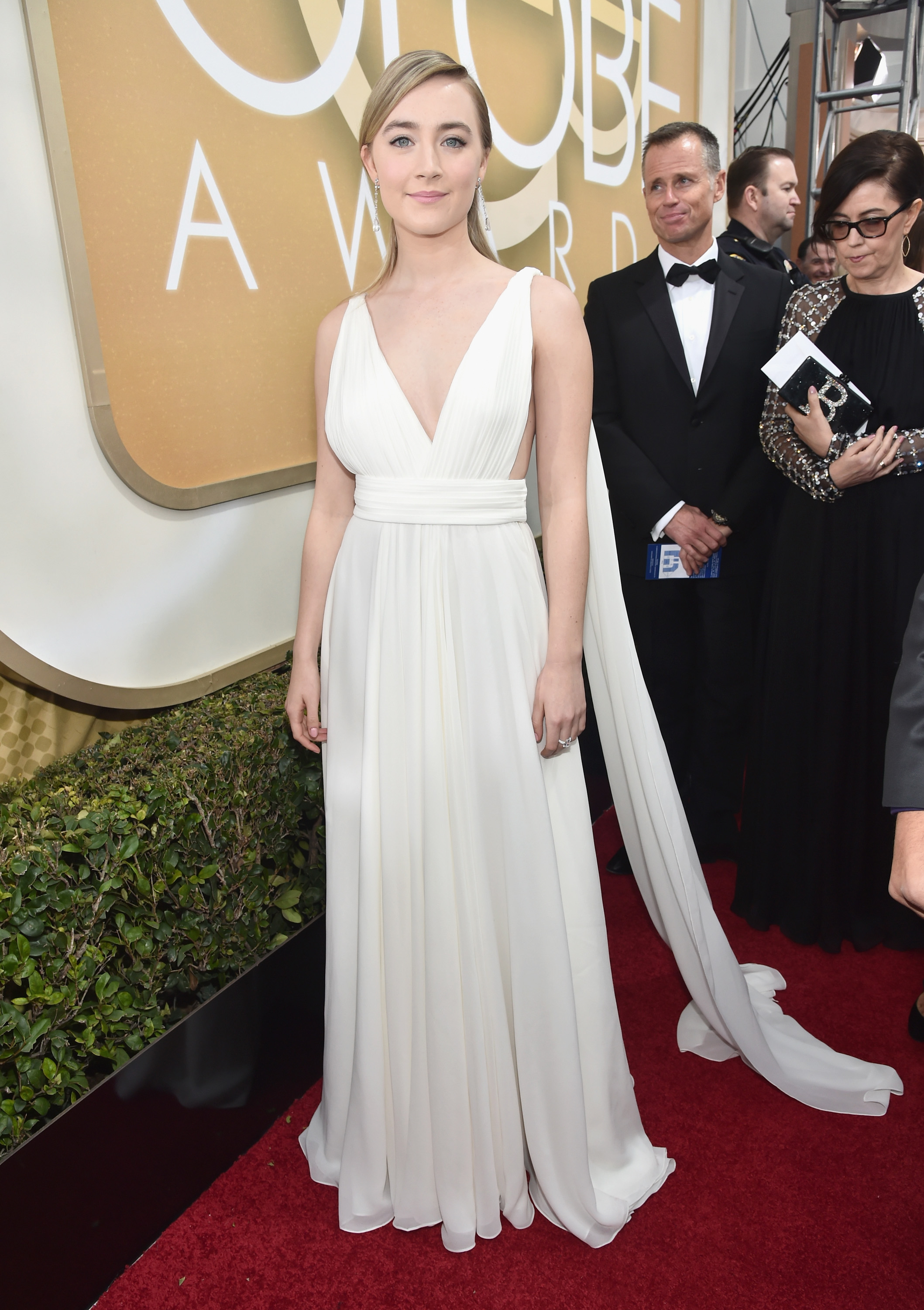 Saoirse Ronan arrives to the 73rd Annual Golden Globe Awards on Jan. 10, 2016 in Beverly Hills.