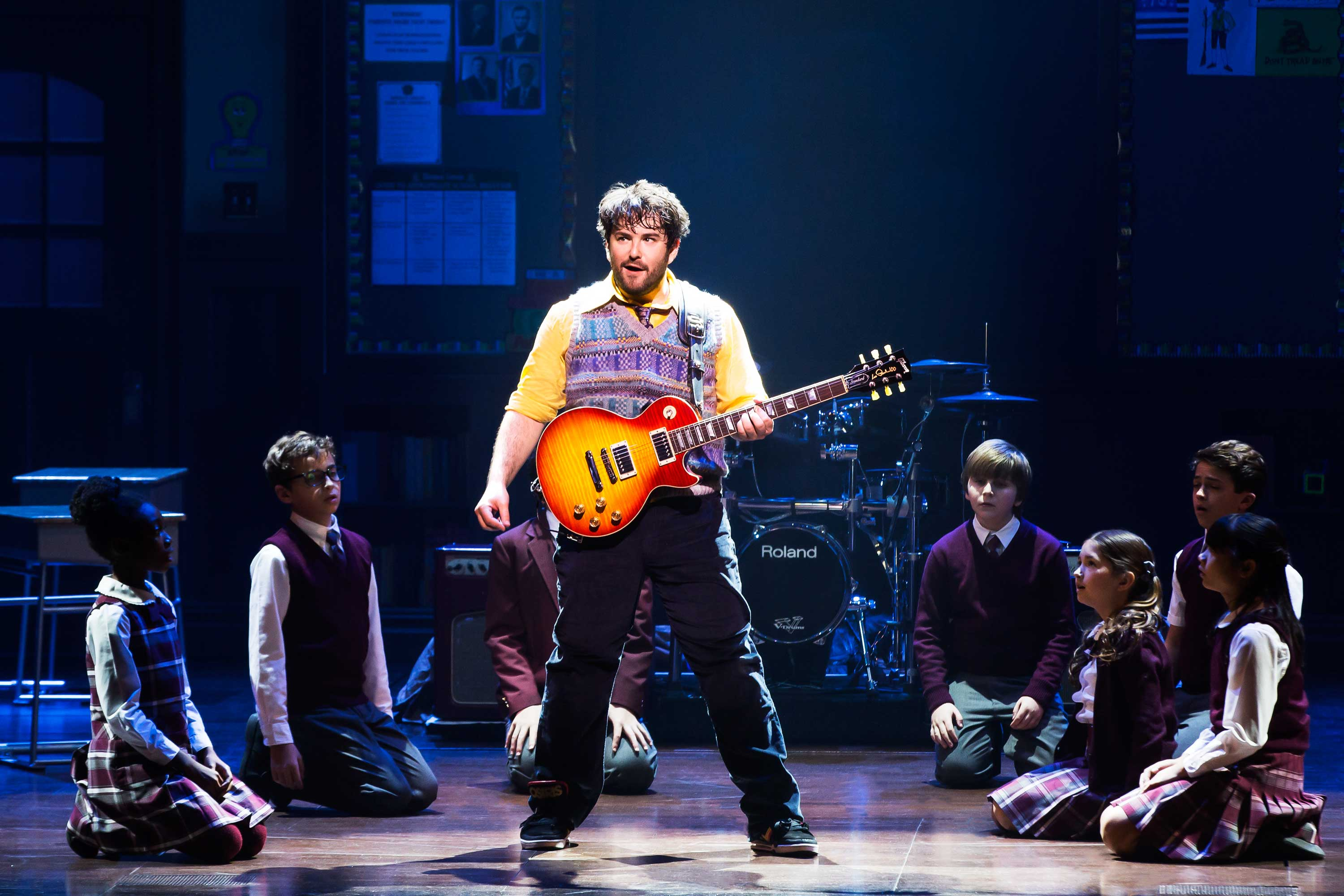 Alex Brightman tackles the Jack Black role in the musical School of Rock