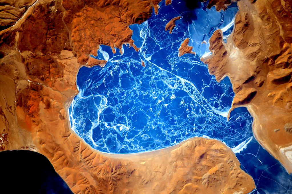 Cool frozen lake in #Himalayas! #YearInSpace  - via Twitter on Jan. 9, 2016