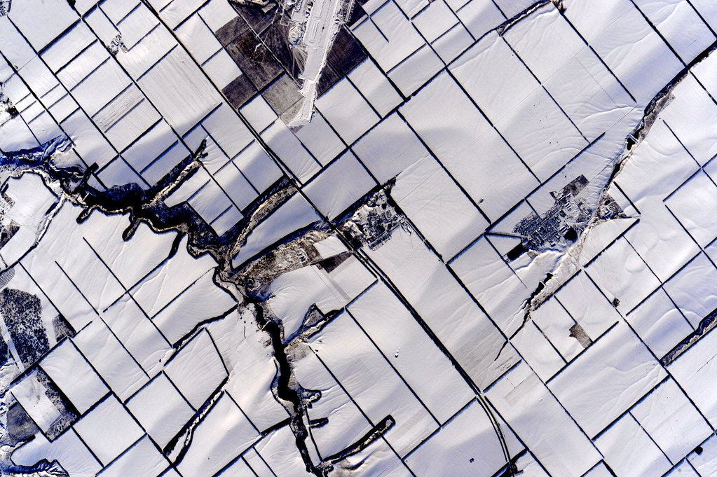 #EarthArt Snow art! #YearInSpace  - via Twitter on Jan. 12, 2016