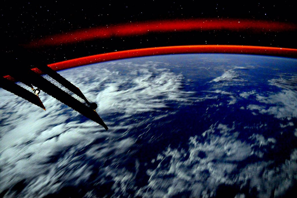 Day 295. #Earth. Mysterious and enchanting, she sleeps. #GoodNight from @Space_Station! #YearInSpace  - via Twitter on Jan. 16, 2016