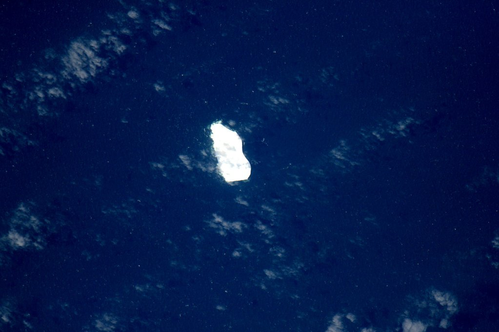 Just spotted this massive iceberg in the southern Indian Ocean. #YearInSpace  - via Twitter on Jan. 18, 2016