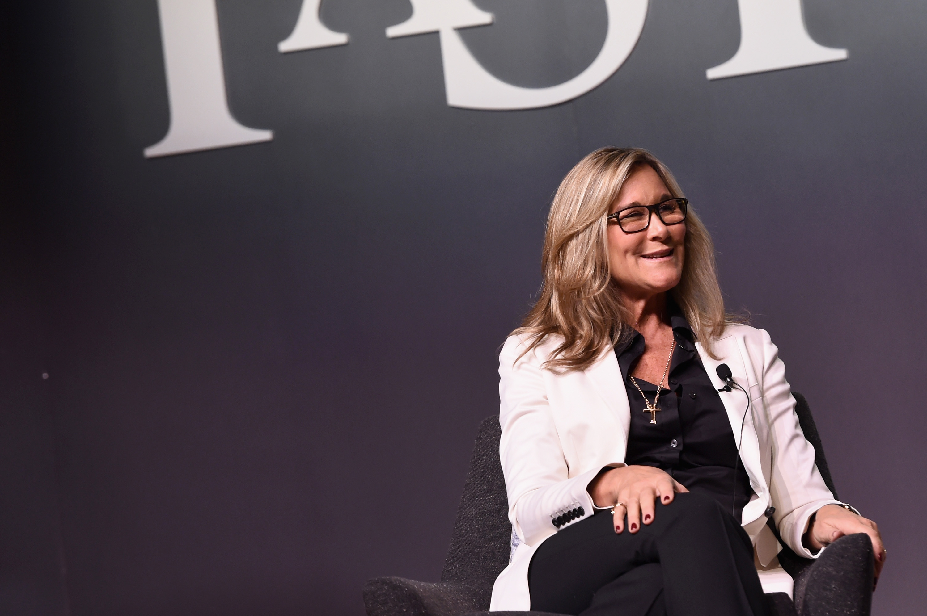 Senior Vice President of Apple Retail at Apple Inc, Angela Ahrendts speaks onstage during the Fast Company Innovation Festival in New York City on Nov. 9, 2015.